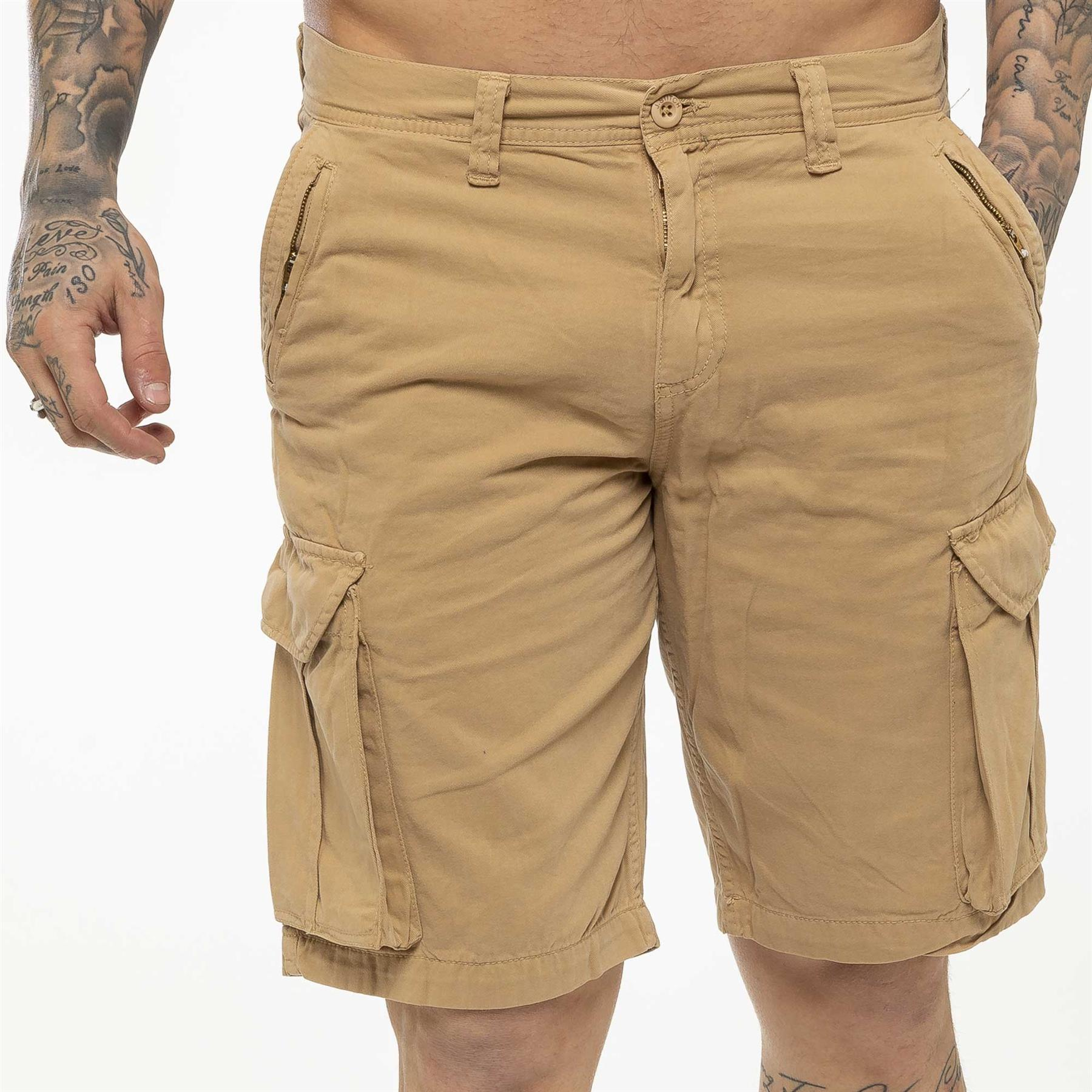 thumbnail 36 - Kruze Jeans Mens Army Combat Shorts Camouflage Cargo Casual Camo Work Half Pants