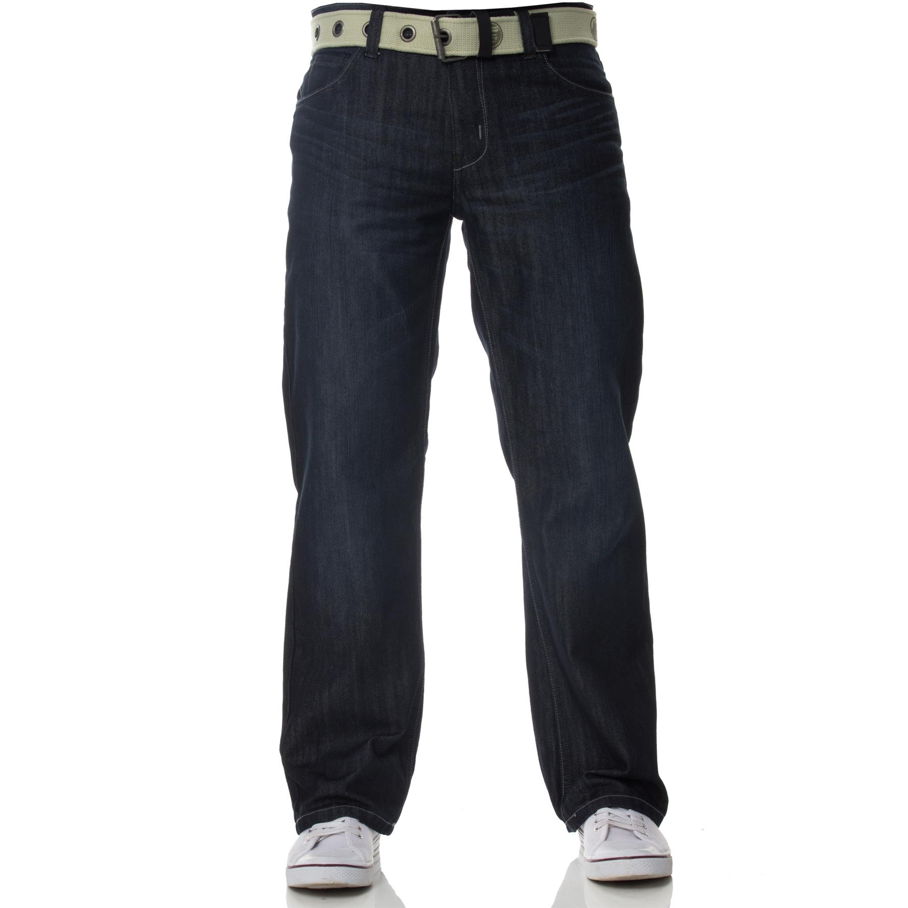 Enzo-Mens-Jeans-Big-Tall-Leg-King-Size-Denim-Pants-Chino-Trousers-Waist-44-034-60-034 miniature 8