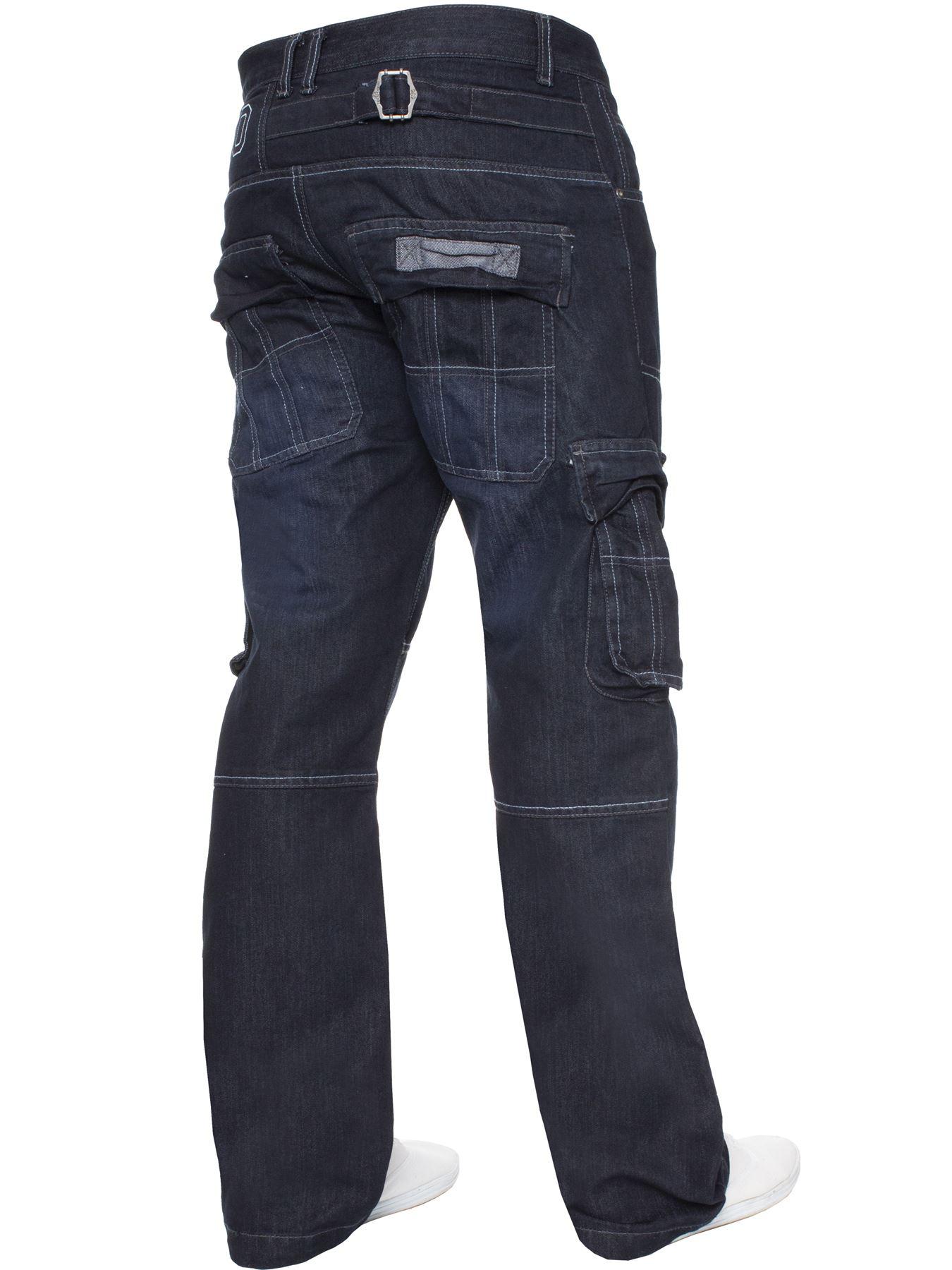Jeans-Para-Hombre-de-carga-de-combate-pesado-Pantalones-de-trabajo-pantalones-de-mezclilla-Big-King miniatura 23