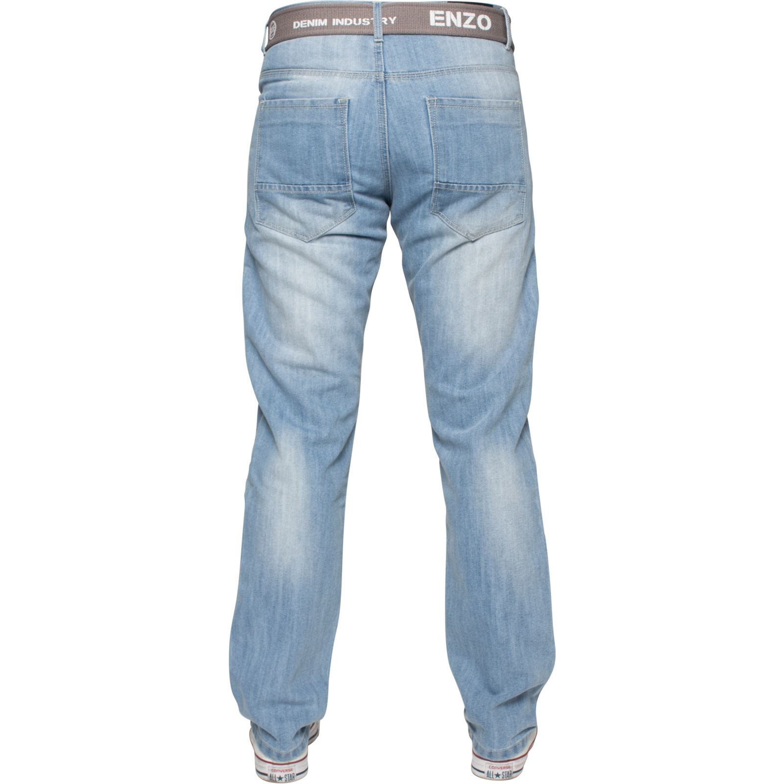 Enzo-Mens-Designer-Jeans-Regular-Fit-Denim-Pants-Big-Tall-All-Waist-Sizes thumbnail 18