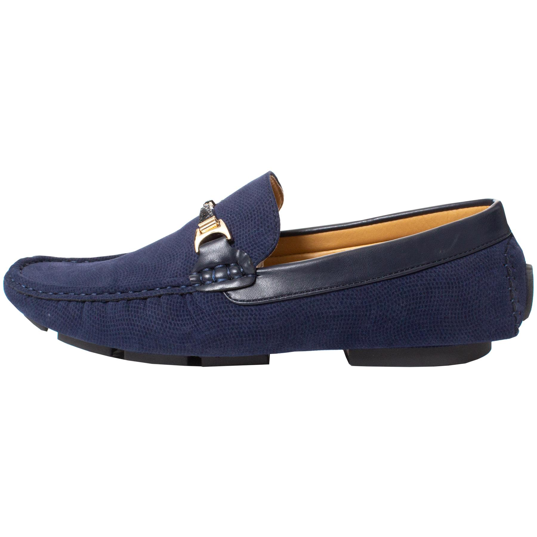 Mens-Slip-Ons-Shoes-Boat-Deck-Driving-Smart-Buckle-Moccasins-Suede-Look-Loafers thumbnail 46