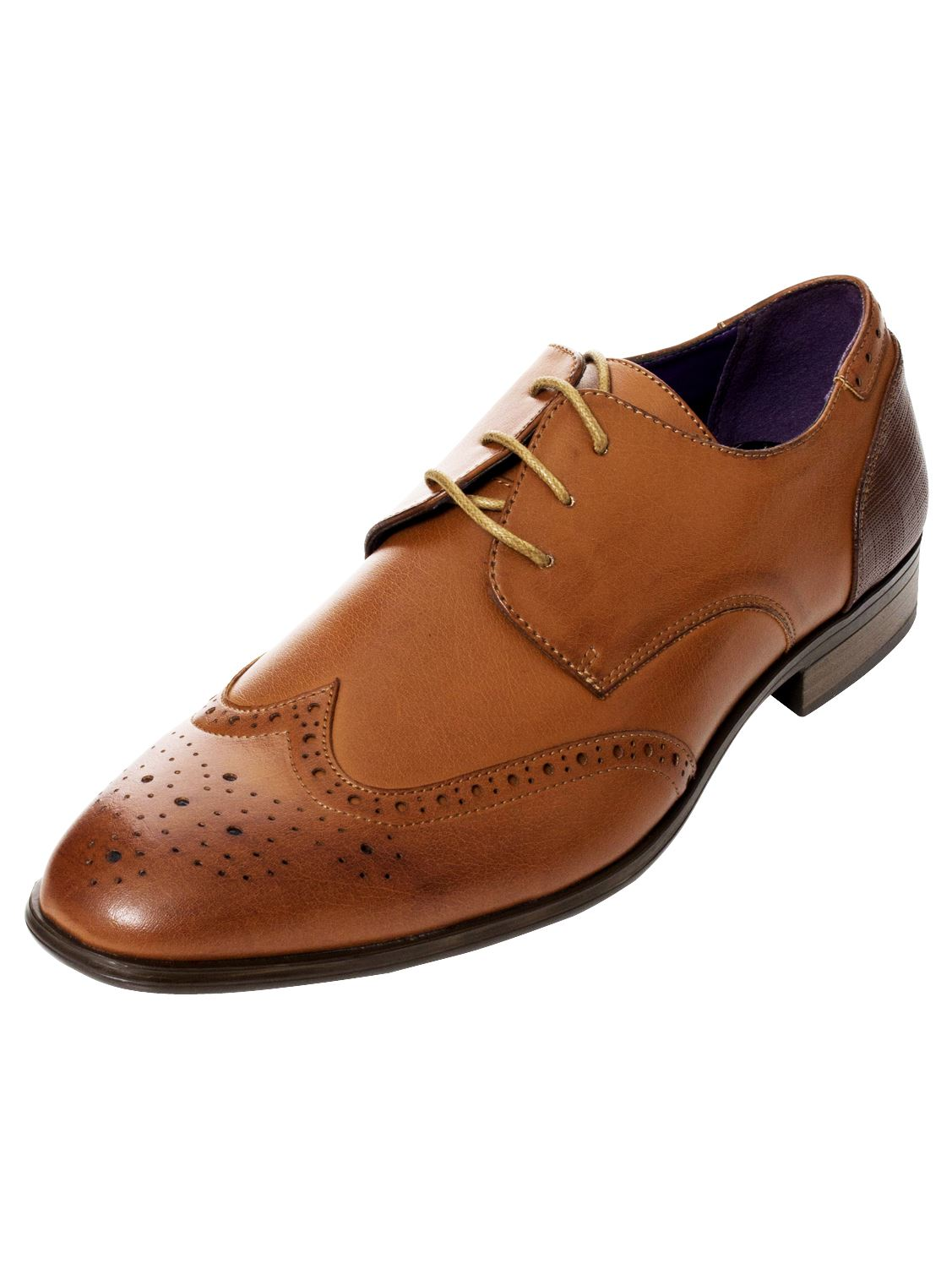 Mens-Faux-Leather-Shoes-Smart-Formal-Wedding-Office-Lace-Up-Designer-Brogues thumbnail 23