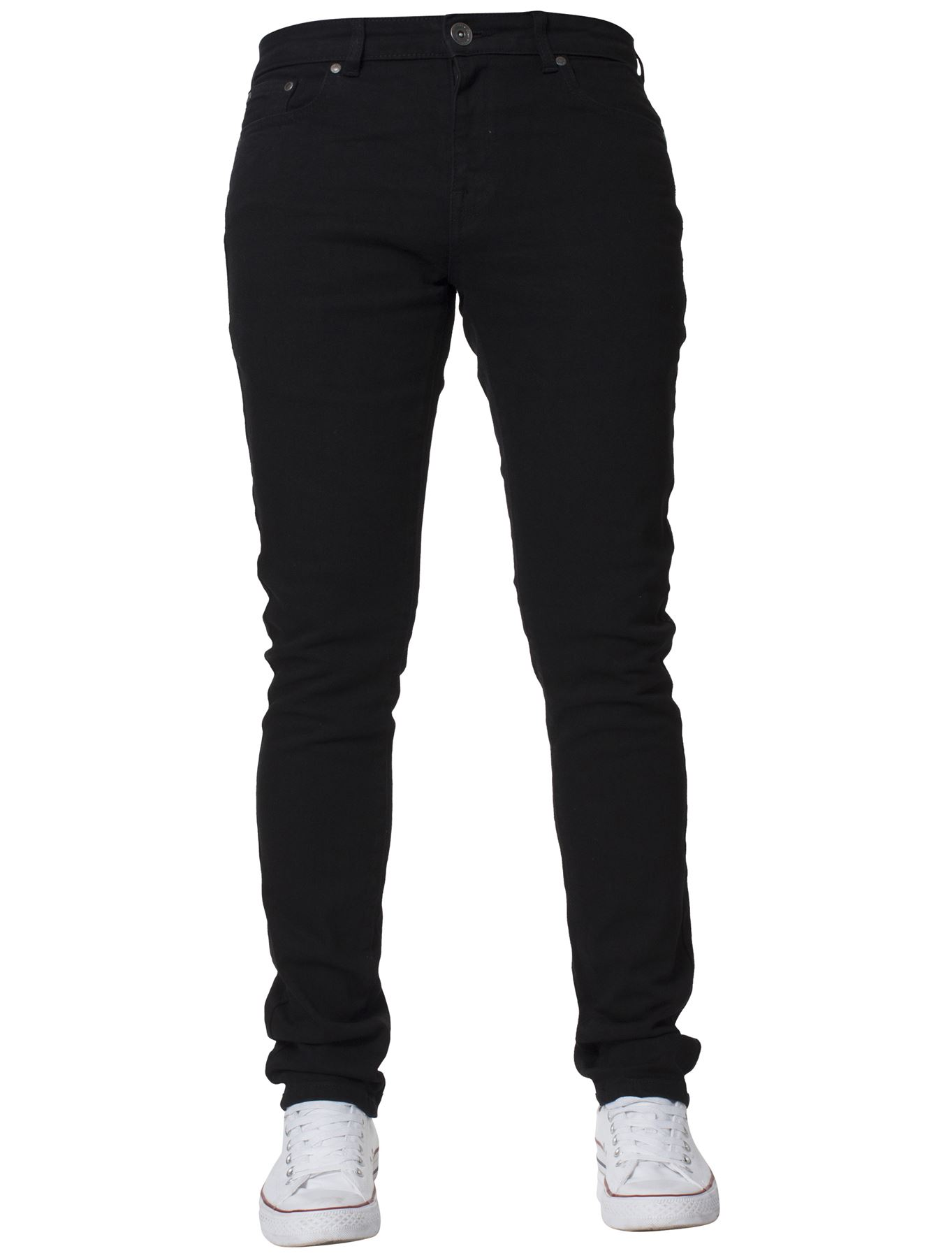 Mens-Skinny-Stretch-Jeans-Slim-Fit-Flex-Denim-Trousers-Pants-King-Sizes-by-Kruze thumbnail 4