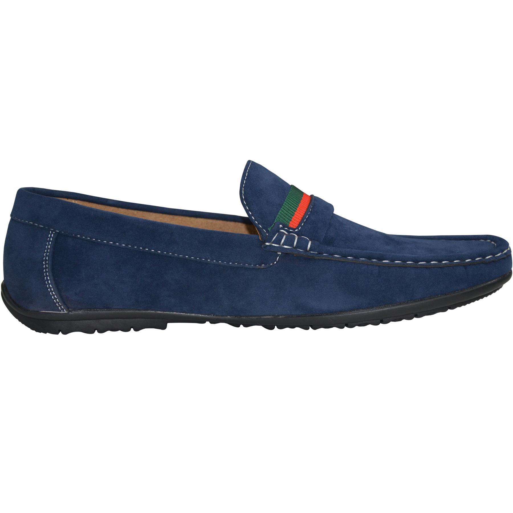 Mens-Slip-Ons-Shoes-Boat-Deck-Driving-Smart-Buckle-Moccasins-Suede-Look-Loafers thumbnail 35
