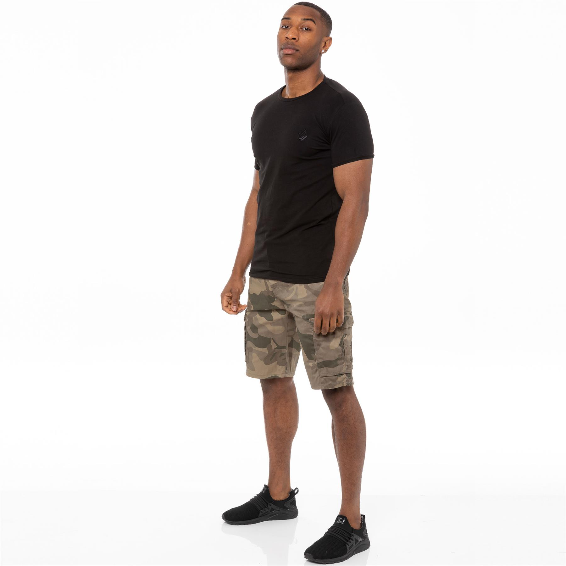thumbnail 29 - Kruze Jeans Mens Army Combat Shorts Camouflage Cargo Casual Camo Work Half Pants