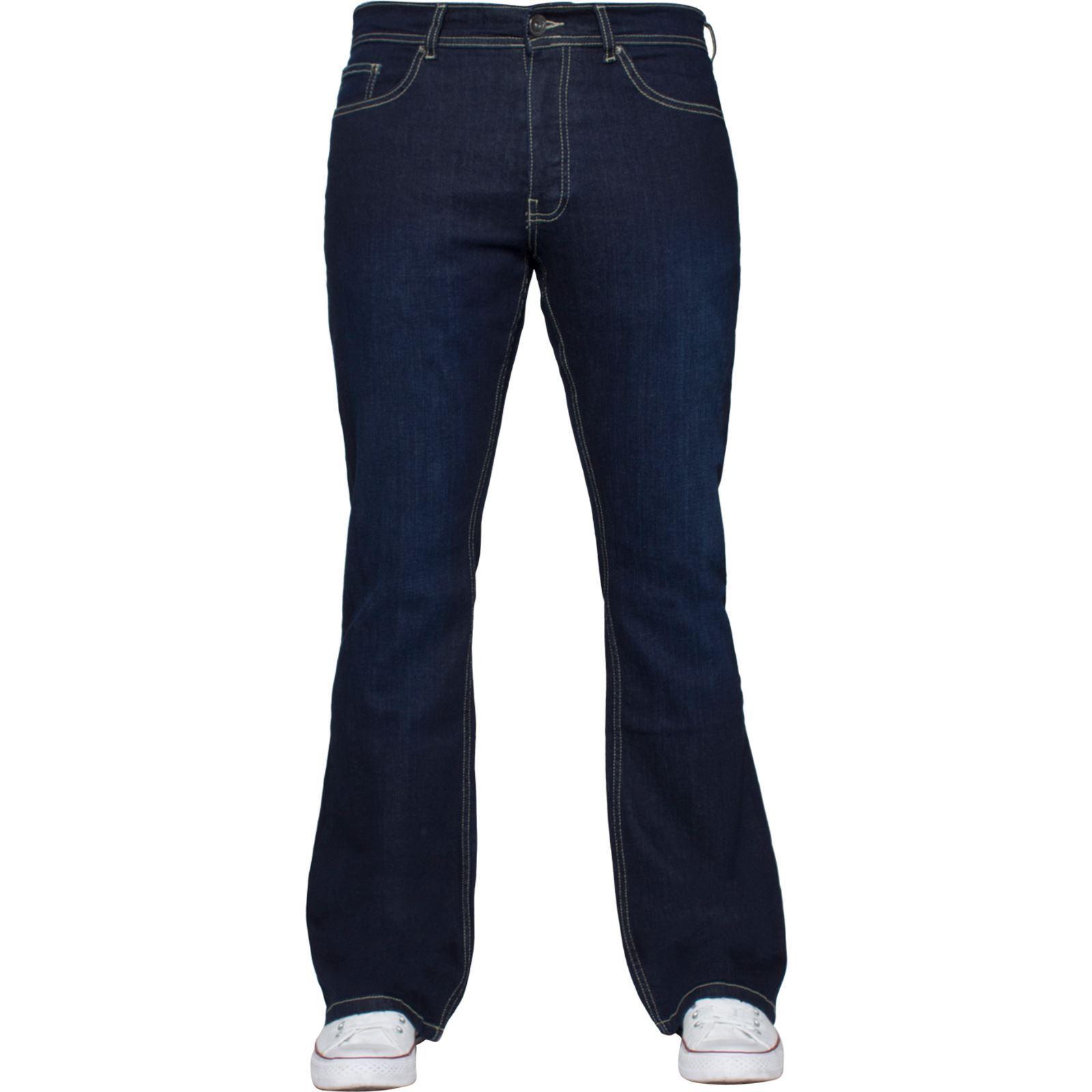 Para-Hombre-Pierna-Recta-Bootcut-Stretch-Denim-Regulares-Pantalon-de-trabajo-Kruze-Todas-Cinturas miniatura 93