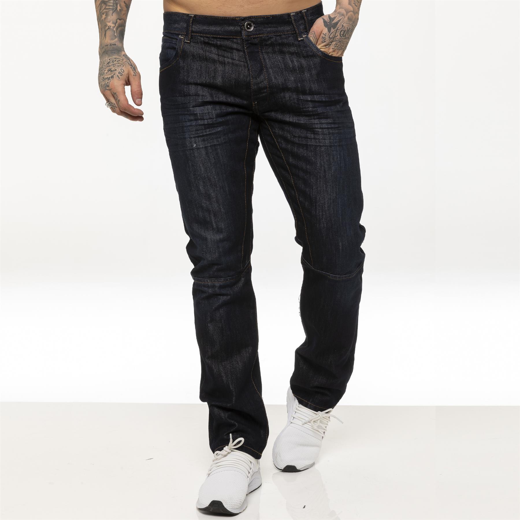 miniature 17 - Enzo pour homme coupe droite regular leg homme travail Denim Pantalon Toutes Tailles Tailles