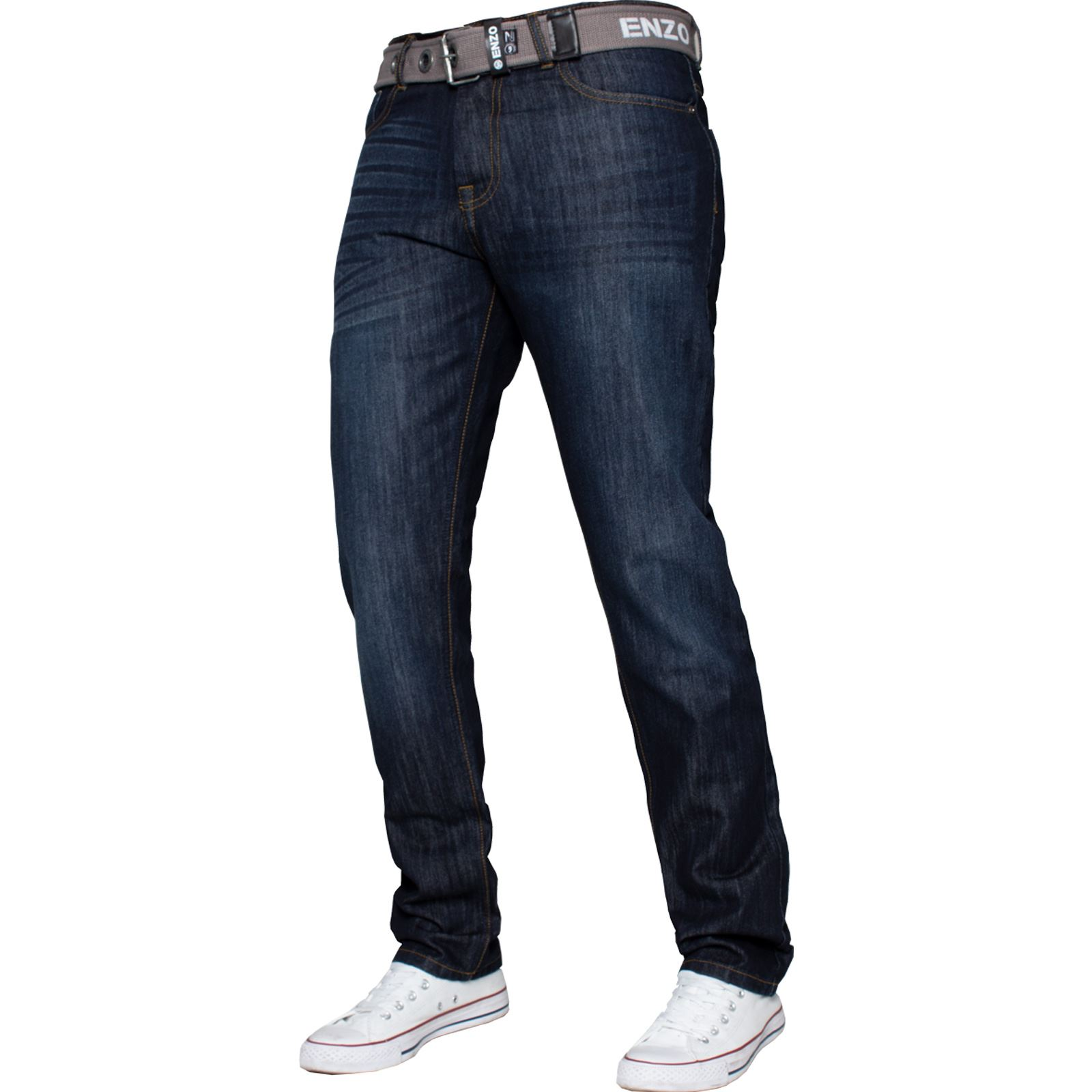 Enzo-Mens-Designer-Jeans-Regular-Fit-Denim-Pants-Big-Tall-All-Waist-Sizes thumbnail 12
