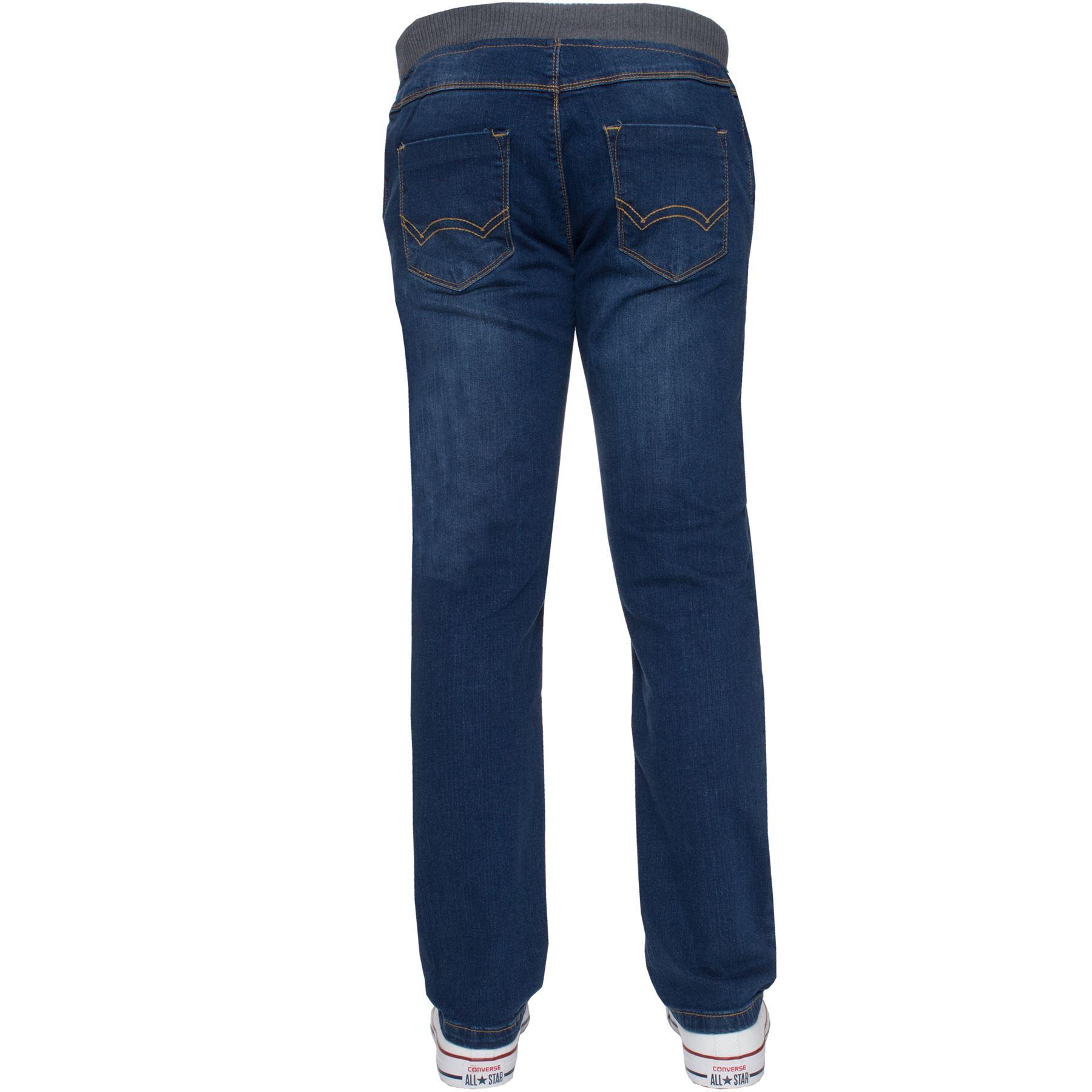 Jean-Garcon-Taille-Elastique-Enfants-Skinny-Stretch-School-Denim-Pantalon-Pantalon miniature 11