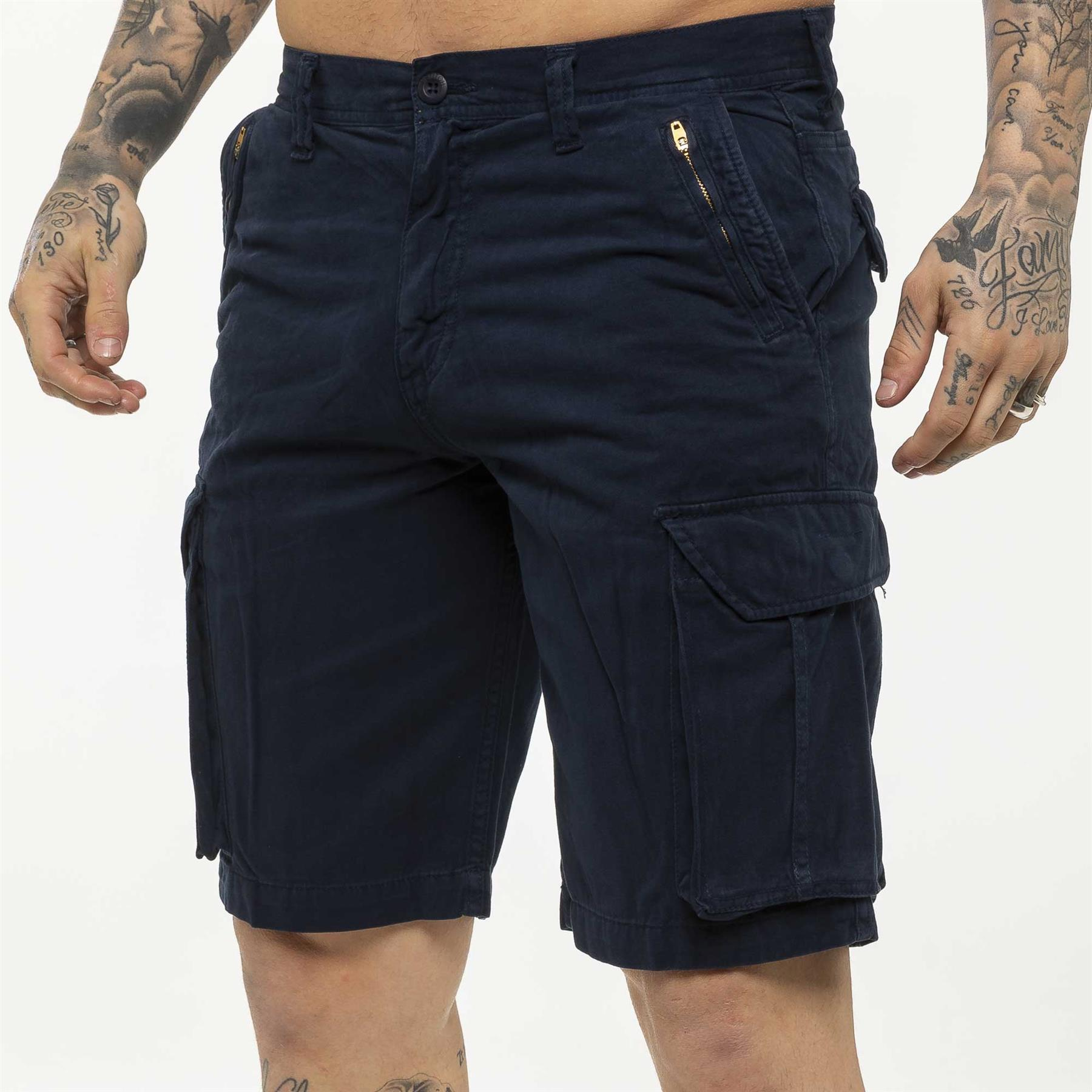 thumbnail 39 - Kruze Jeans Mens Army Combat Shorts Camouflage Cargo Casual Camo Work Half Pants