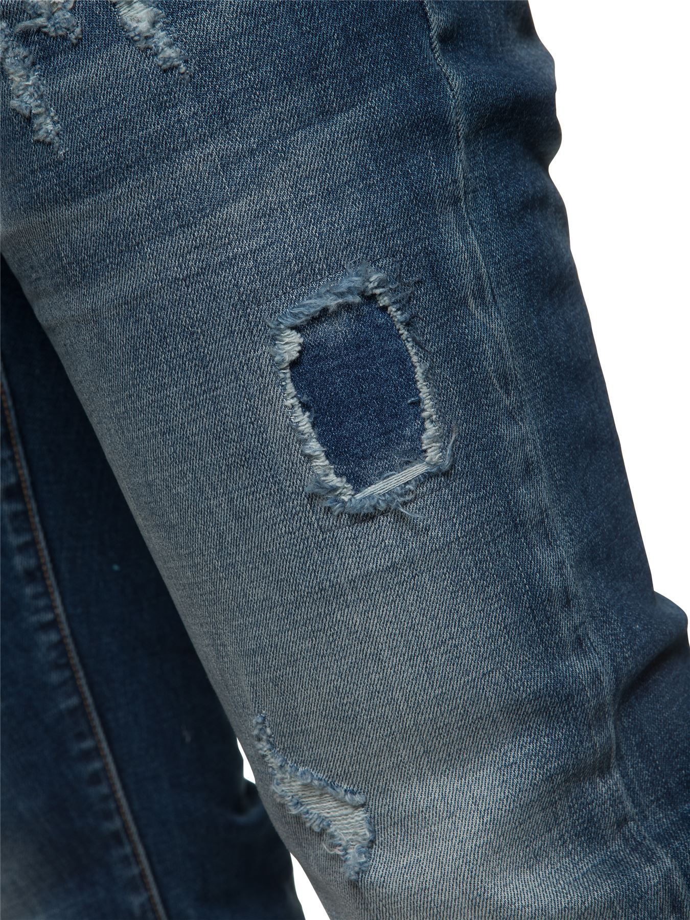 ETO-Designer-Mens-Ripped-Blue-Jeans-Distressed-Denim-Tapered-Fit-Trousers-Pants thumbnail 7