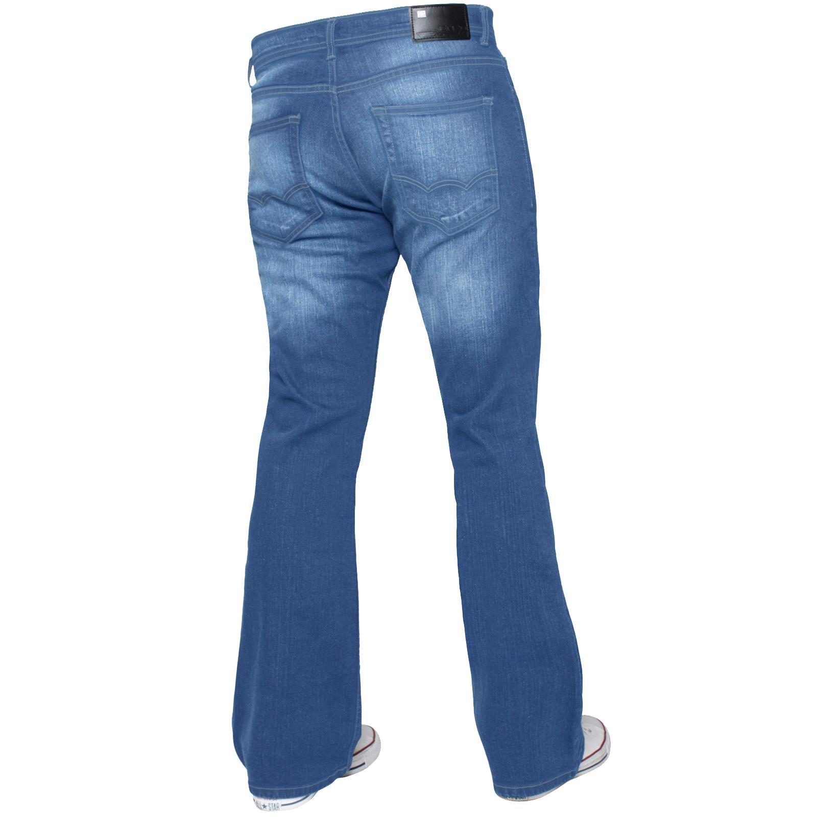 Para-Hombre-Recto-Bootcut-Stretch-Jeans-Pantalones-Regular-Fit-Grande-Alto-Todas-Cinturas miniatura 42