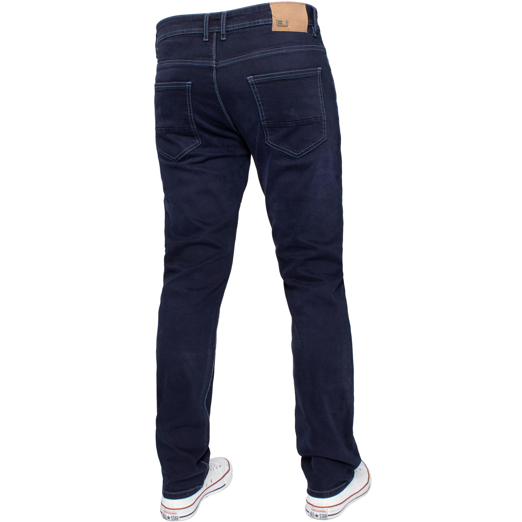 Eto-Designer-Mens-Tapered-Jeans-Slim-Fit-Stretch-Denim-Trouser-Pants-All-Waists thumbnail 21