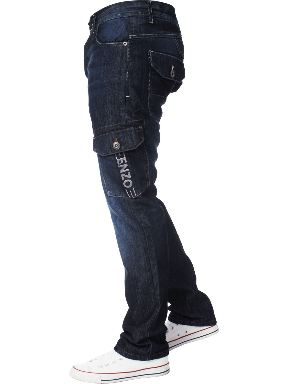 Enzo-Designer-Mens-Regular-Fit-Jeans-Straight-Leg-Denim-Trousers-Pants-All-Waist thumbnail 6