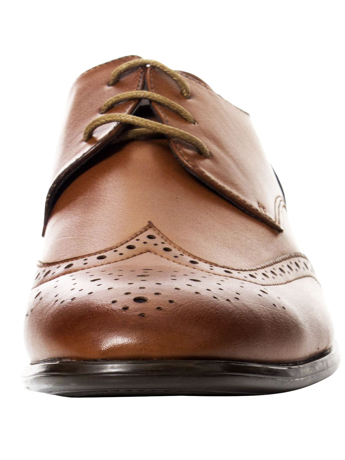 Mens-Faux-Leather-Shoes-Smart-Formal-Wedding-Office-Lace-Up-Designer-Brogues thumbnail 26