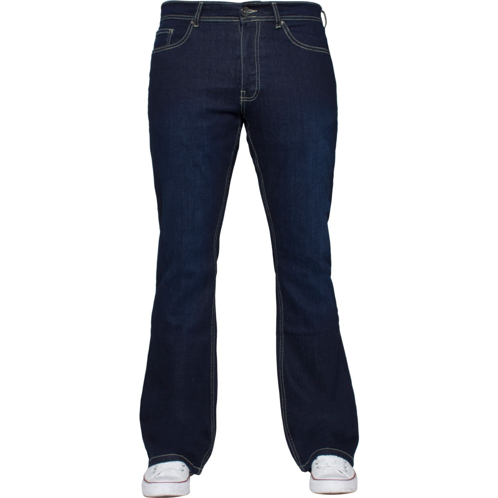 Para-Hombre-Pierna-Recta-Bootcut-Stretch-Denim-Regulares-Pantalon-de-trabajo-Kruze-Todas-Cinturas miniatura 92