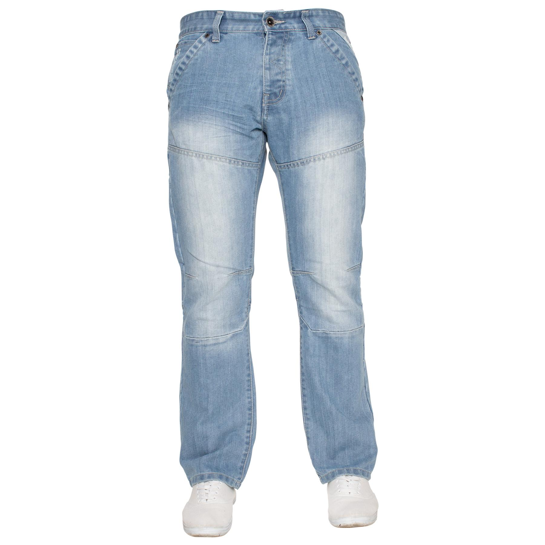 Enzo-Mens-Jeans-Big-Tall-Leg-King-Size-Denim-Pants-Chino-Trousers-Waist-44-034-60-034 miniature 53
