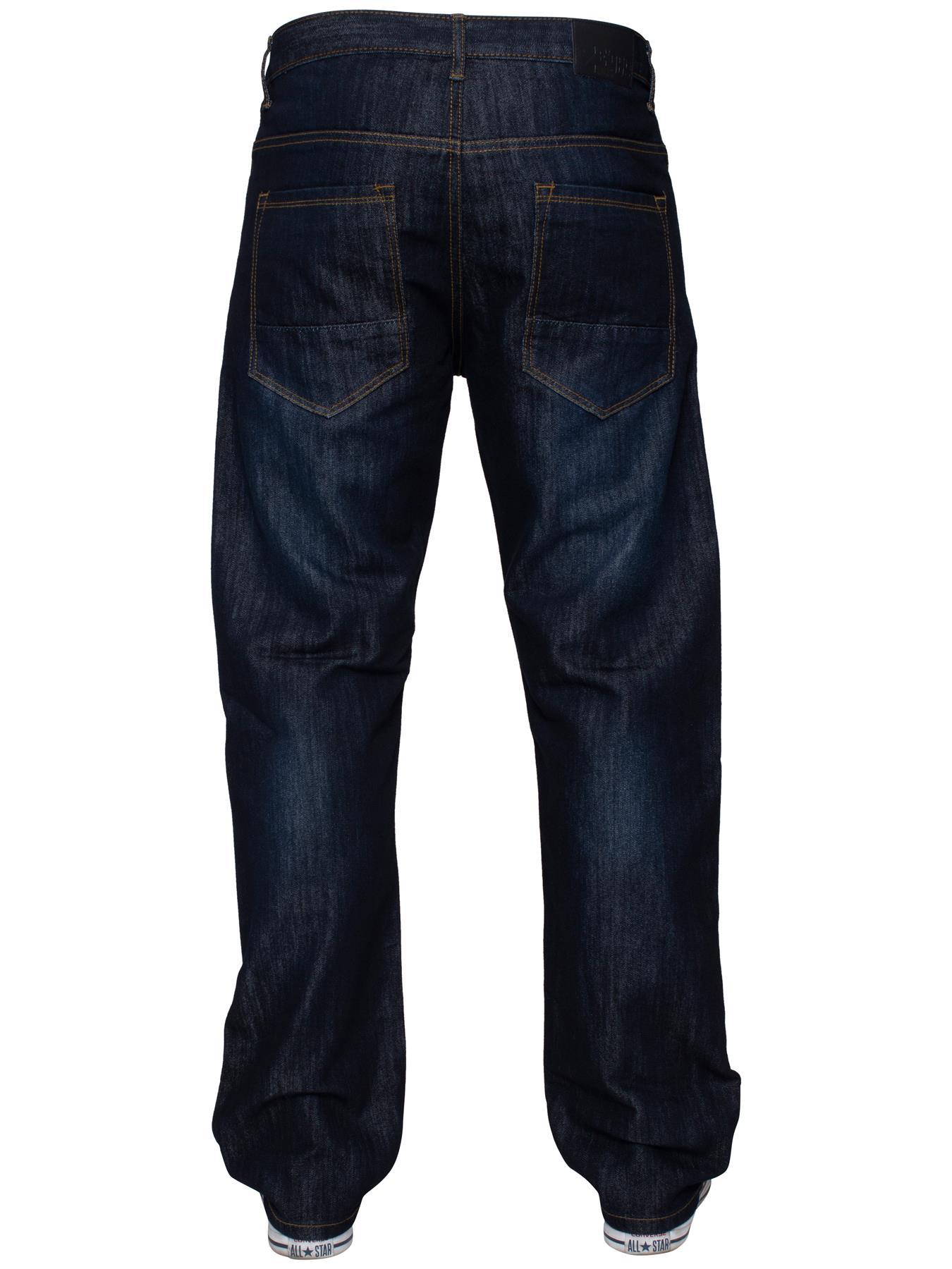 Mens-Regular-Fit-Jeans-Straight-Leg-Denim-Pants-Trousers-Pants-All-Waist-Sizes thumbnail 21