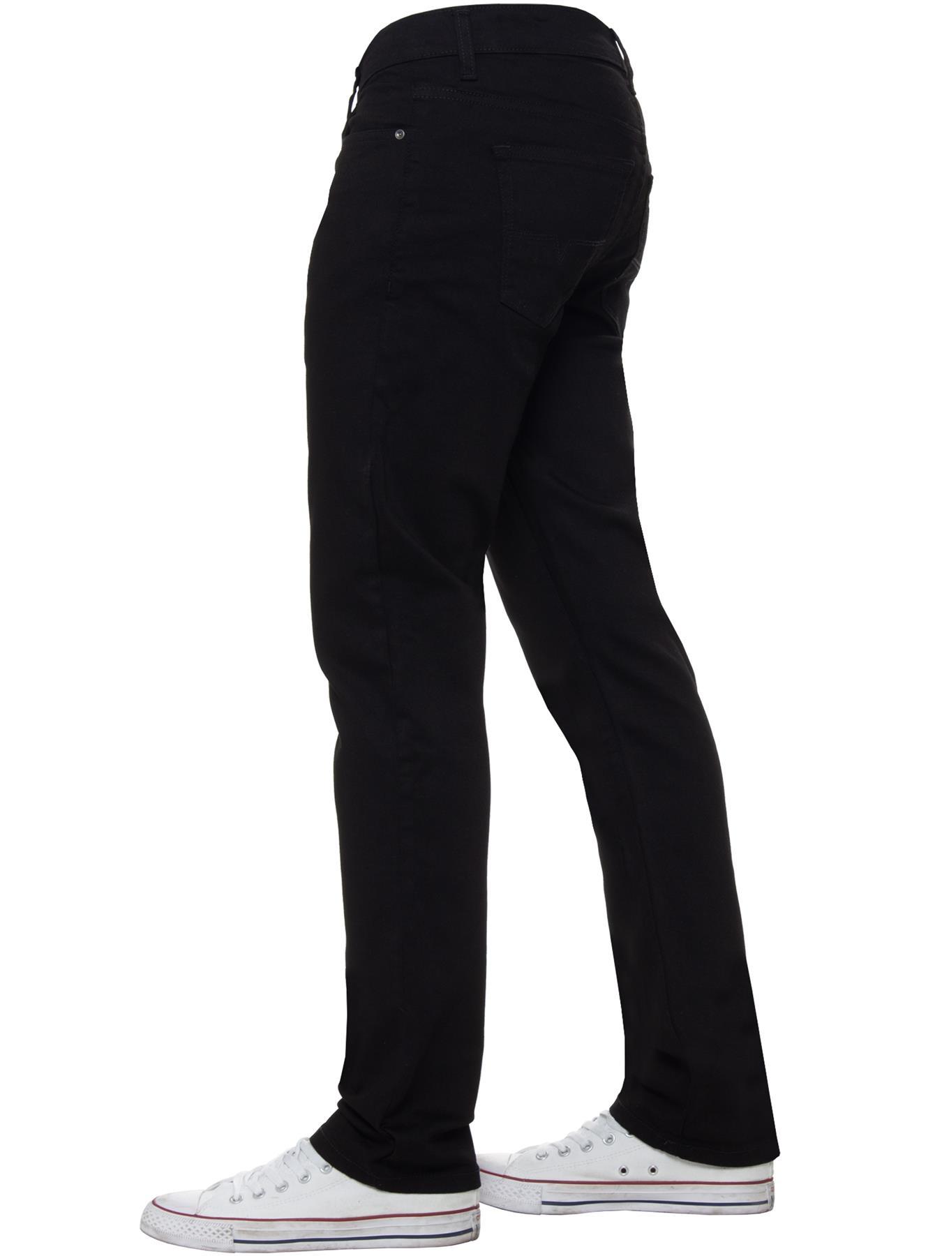Para-Hombre-Pierna-Recta-Bootcut-Stretch-Denim-Regulares-Pantalon-de-trabajo-Kruze-Todas-Cinturas miniatura 23