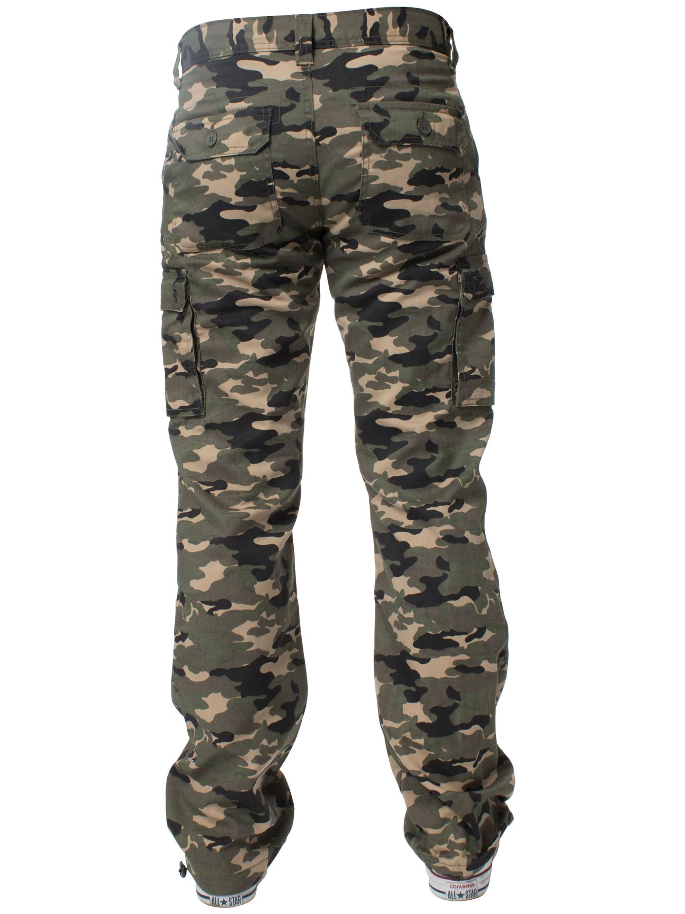 Kruze-Mens-Military-Combat-Trousers-Camouflage-Cargo-Camo-Army-Casual-Work-Pants miniatura 19