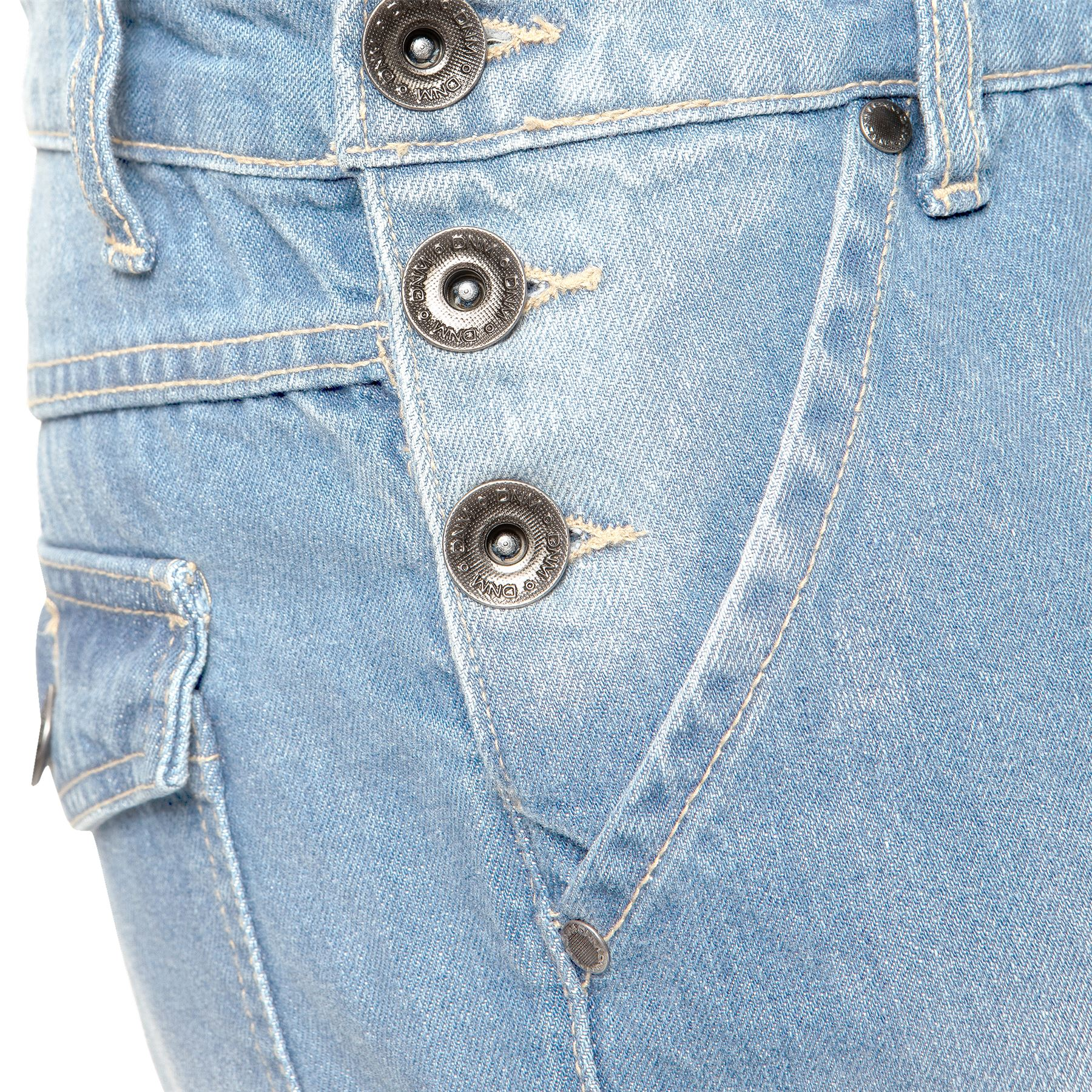 ENZO-Jeans-Hombre-Denim-Azul-Peto-Peto-overoles-Todas-Cinturas-Talla-30-034-50-034 miniatura 16