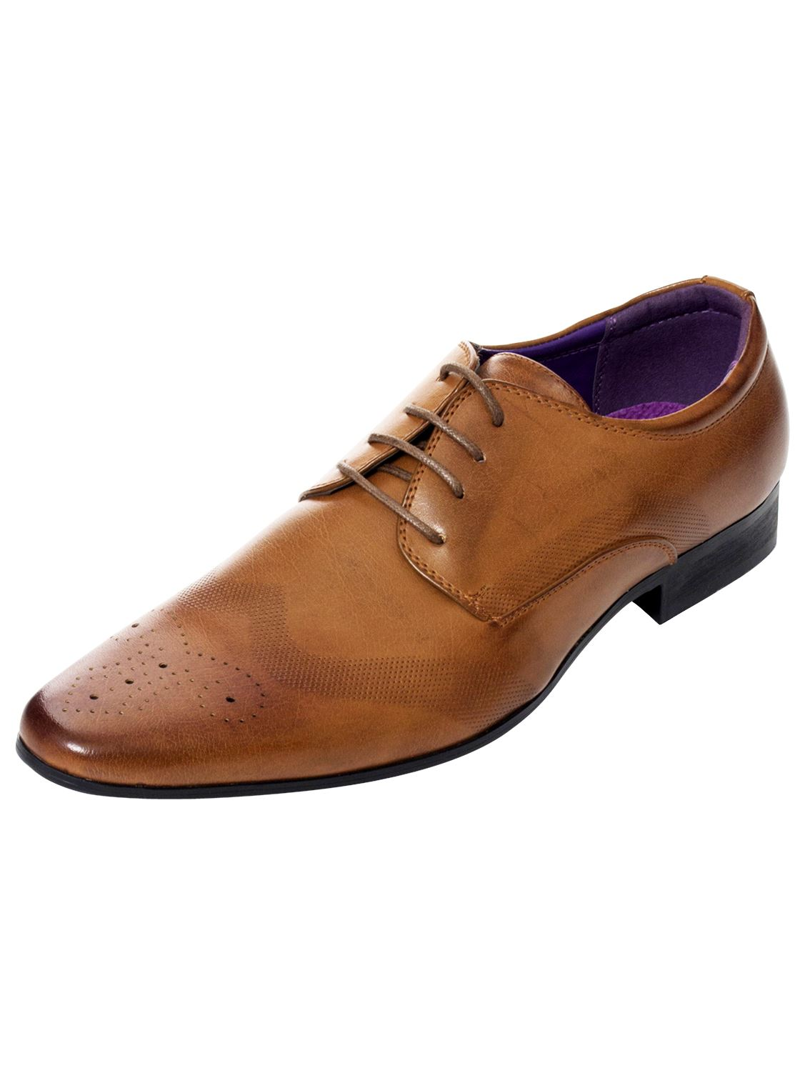 Mens-Faux-Leather-Shoes-Smart-Formal-Wedding-Office-Lace-Up-Designer-Brogues thumbnail 8