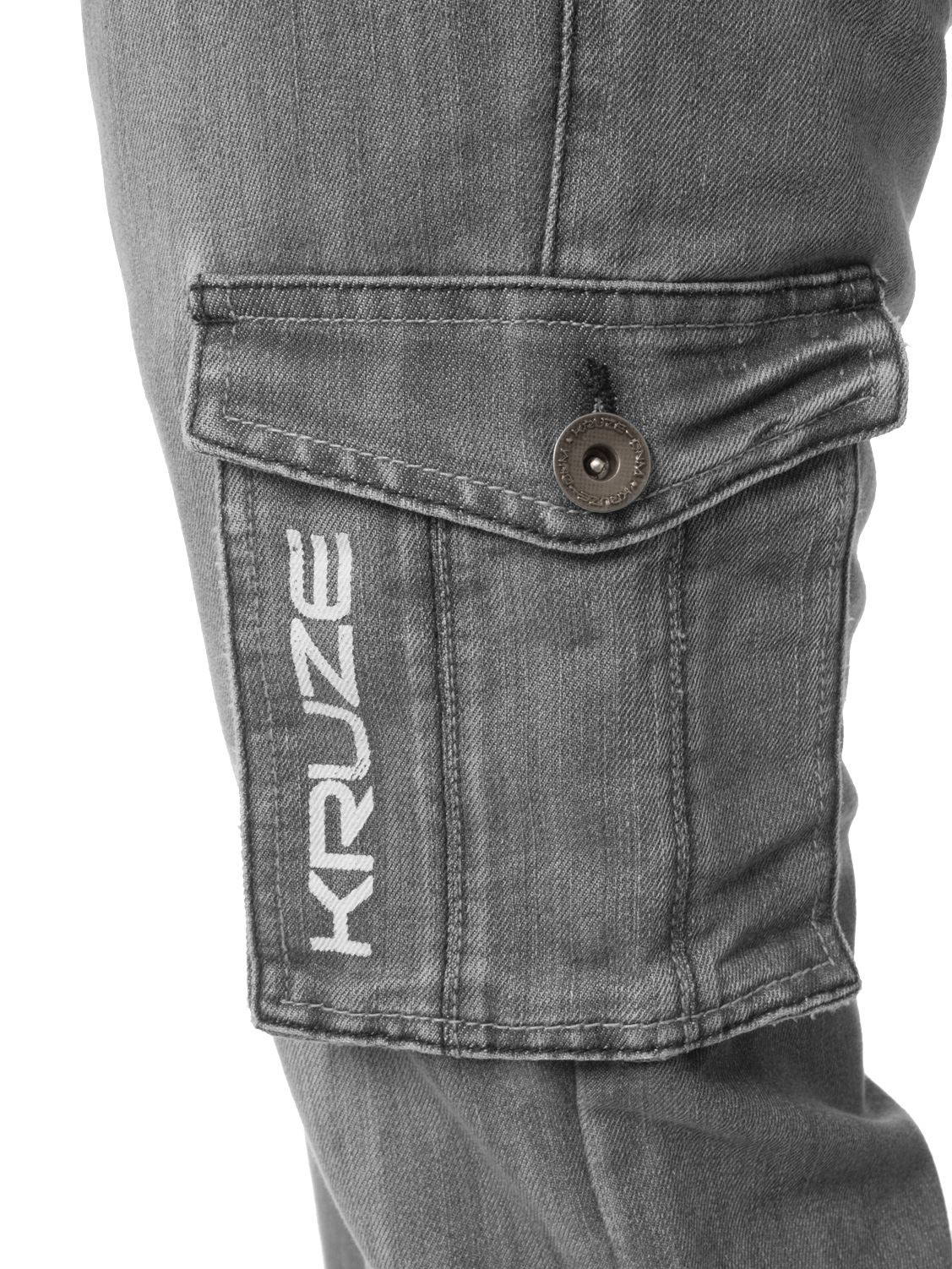 Kruze-Mens-Cargo-Combat-Jeans-Casual-Work-Denim-Pants-Big-Tall-All-Waist-Sizes thumbnail 33