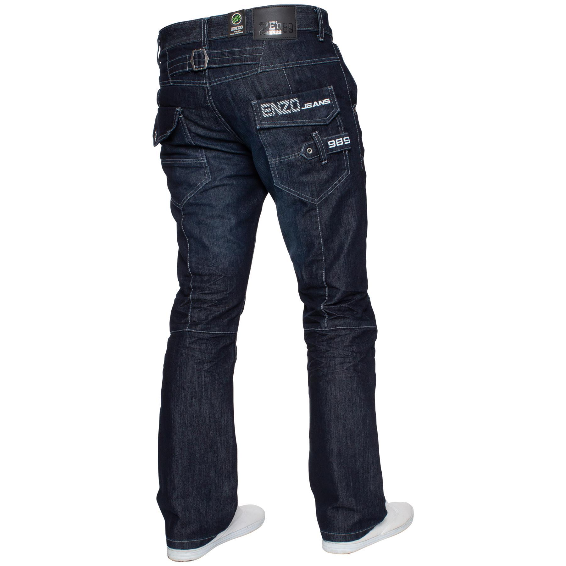 Enzo-Mens-Big-Tall-Jeans-Leg-King-Size-Denim-Pants-Chino-Trousers-Pants-44-034-60-034 thumbnail 72