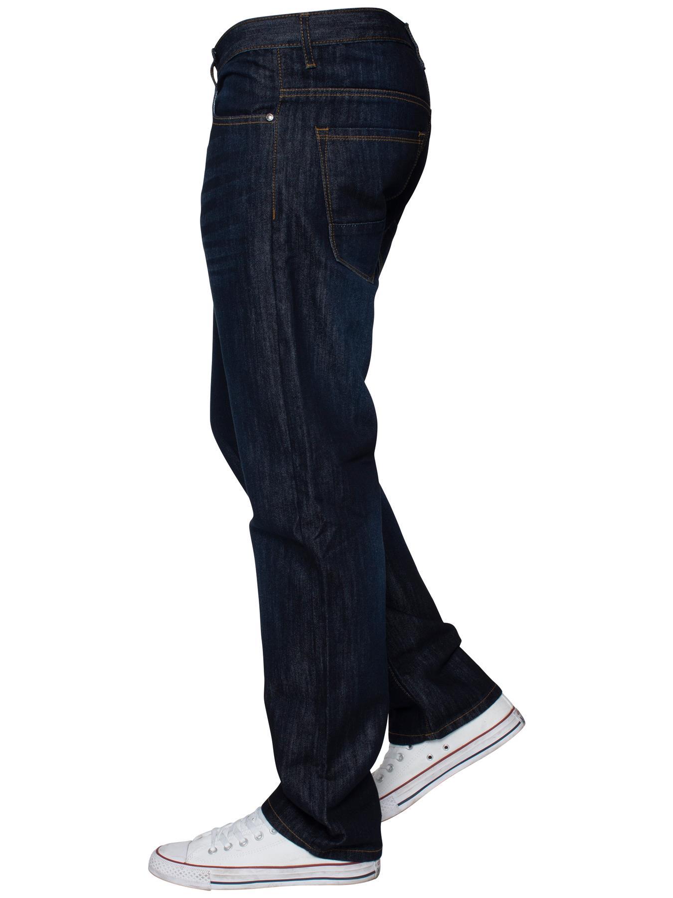 Mens-Regular-Fit-Jeans-Straight-Leg-Denim-Pants-Trousers-Pants-All-Waist-Sizes thumbnail 19