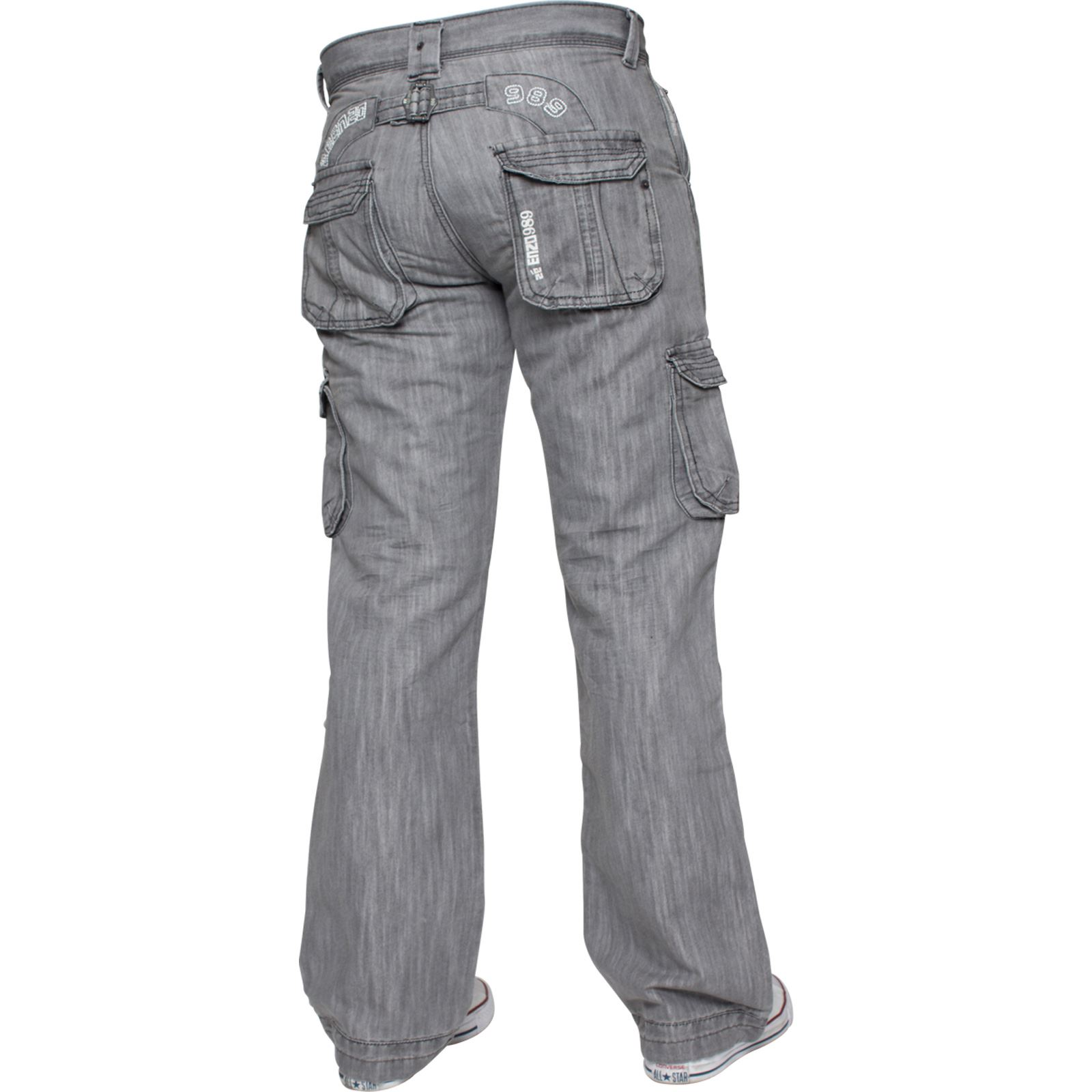 Enzo-Mens-Cargo-Combat-Trousers-Jeans-Work-Casual-Denim-Pants-Big-Tall-All-Waist thumbnail 24