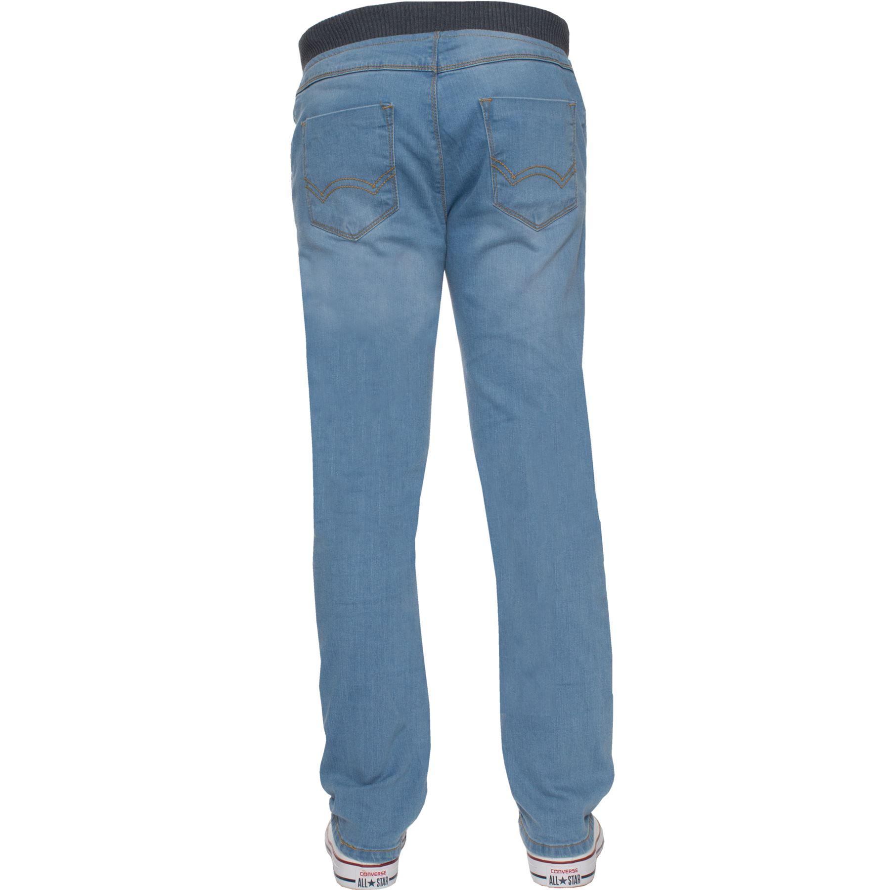 31bfbf698 New Brand Kruze Boys Jeans Kids Ribbed Elasticated Waist Stretch ...