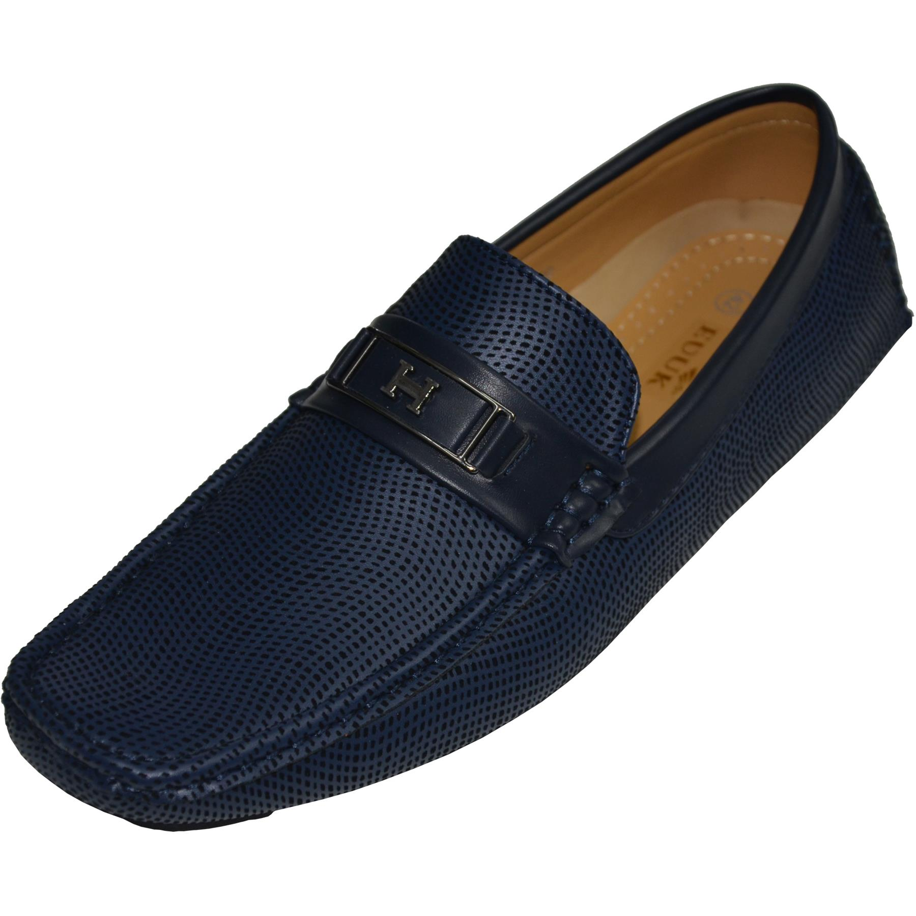 Mens-Slip-Ons-Shoes-Boat-Deck-Driving-Smart-Buckle-Moccasins-Suede-Look-Loafers thumbnail 10