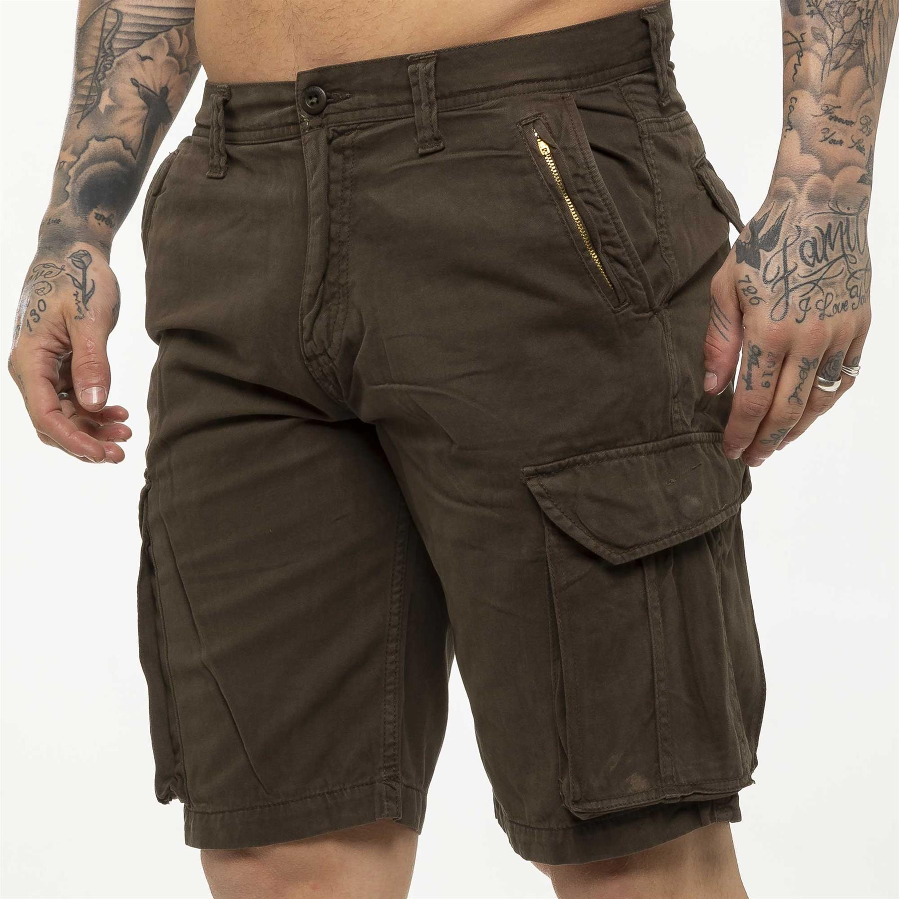 thumbnail 46 - Kruze Jeans Mens Army Combat Shorts Camouflage Cargo Casual Camo Work Half Pants