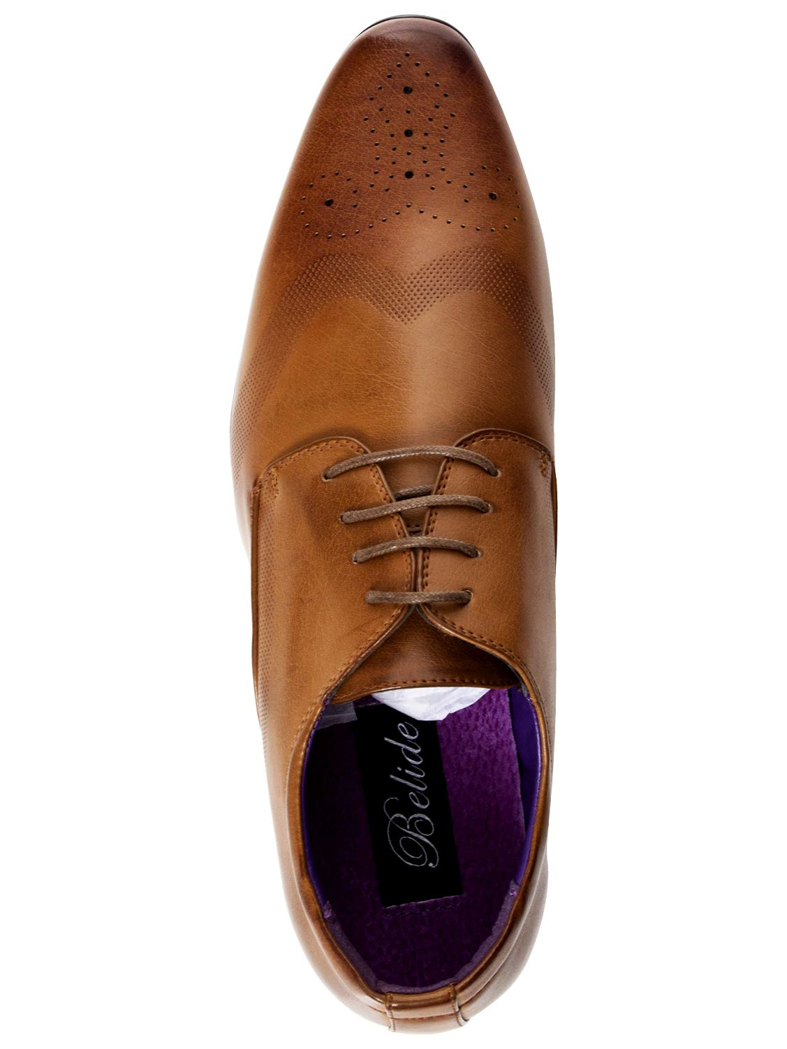 Mens-Faux-Leather-Shoes-Smart-Formal-Wedding-Office-Lace-Up-Designer-Brogues thumbnail 9