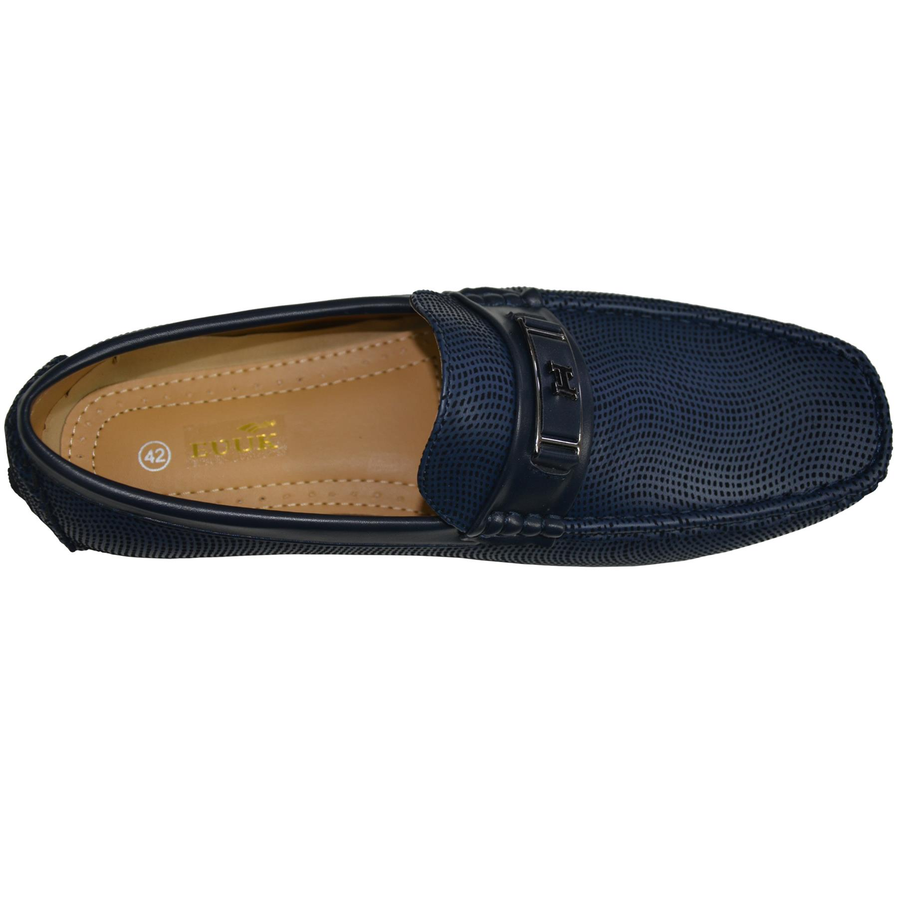 Mens-Slip-Ons-Shoes-Boat-Deck-Driving-Smart-Buckle-Moccasins-Suede-Look-Loafers thumbnail 12