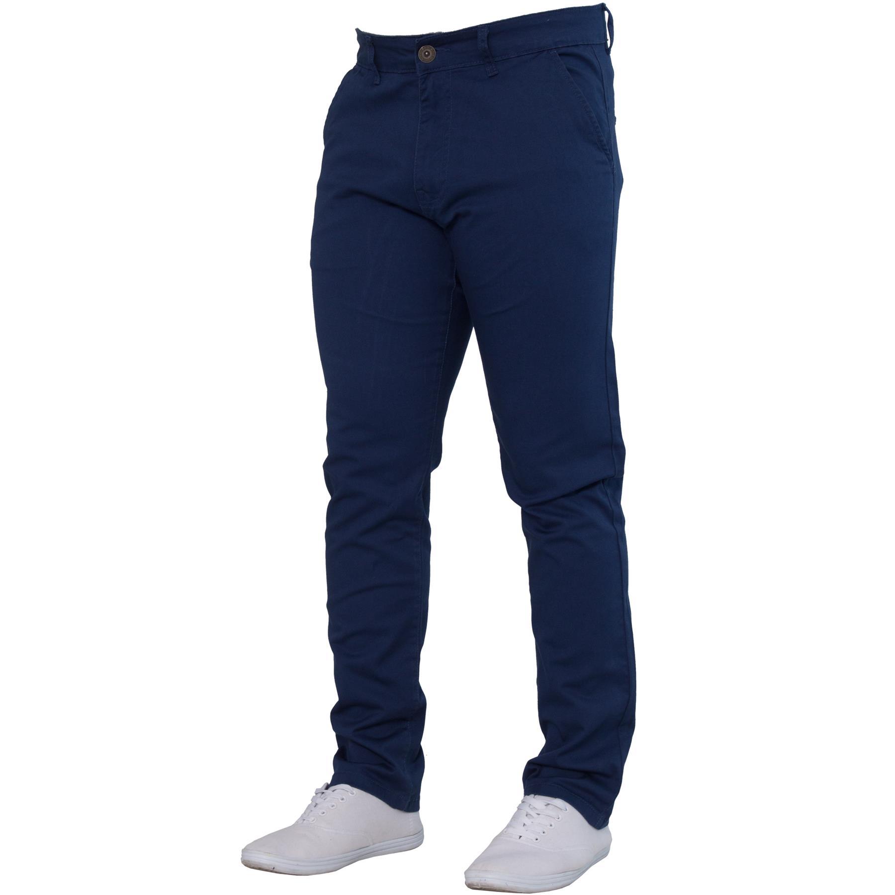 Enzo-Mens-Big-Tall-Jeans-Leg-King-Size-Denim-Pants-Chino-Trousers-Pants-44-034-60-034 thumbnail 8