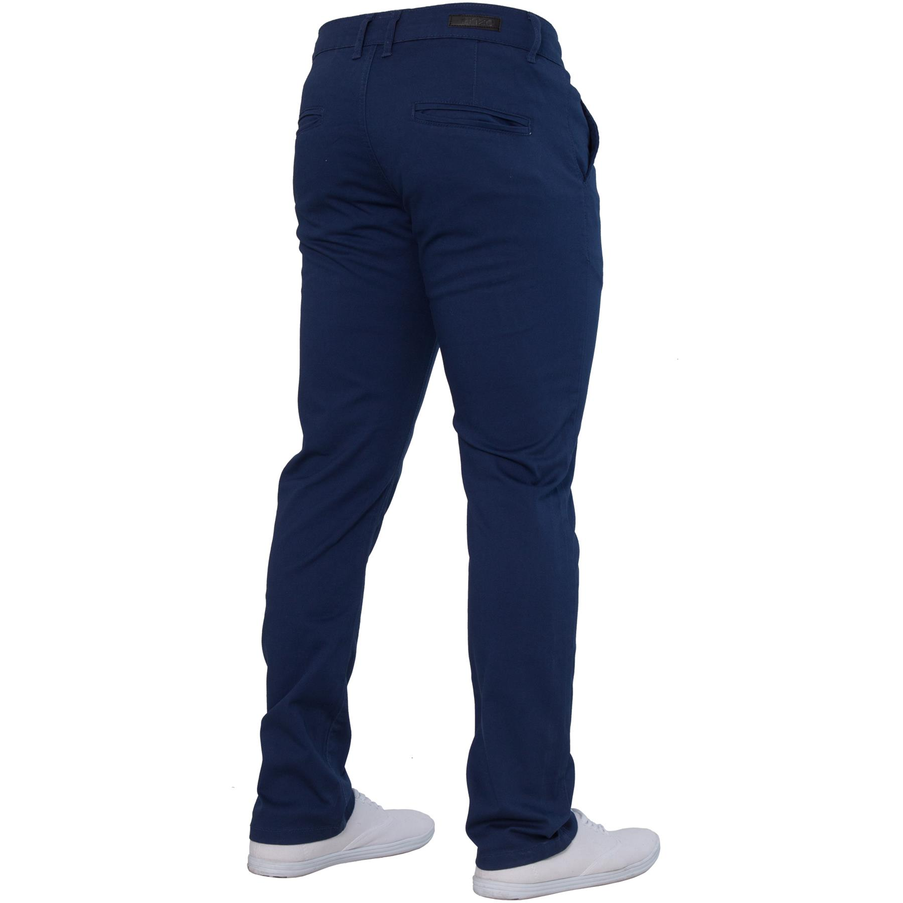 Enzo-Mens-Big-Tall-Jeans-Leg-King-Size-Denim-Pants-Chino-Trousers-Pants-44-034-60-034 thumbnail 9