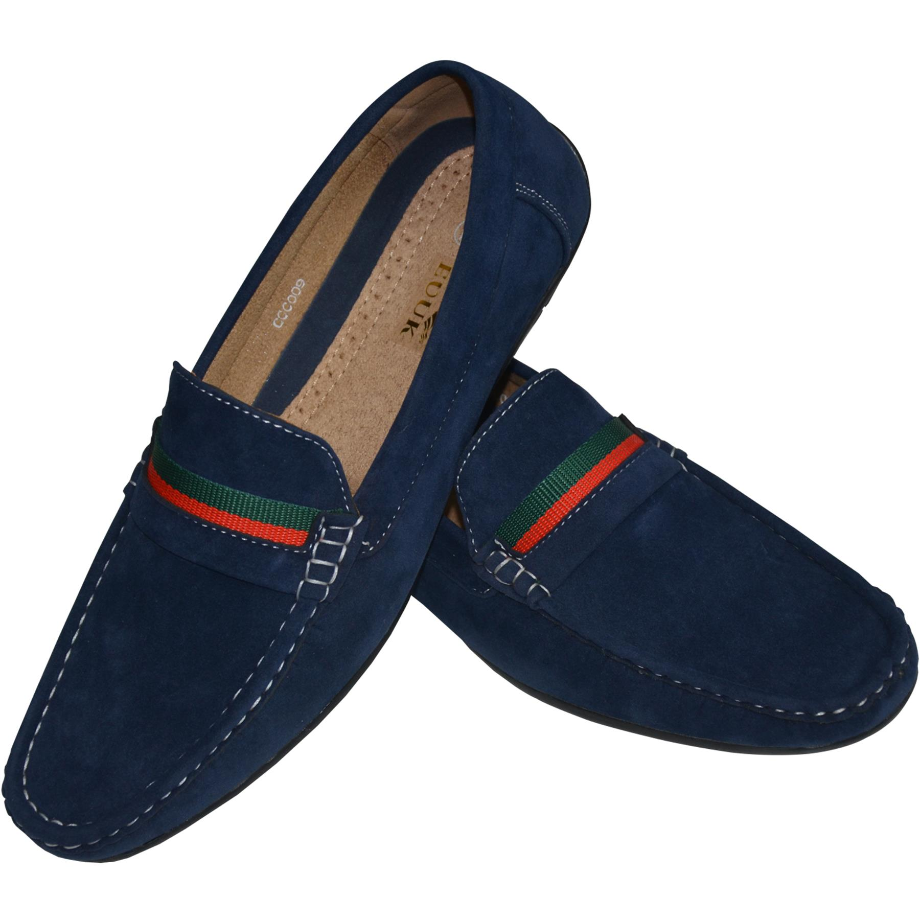 Mens-Suede-Loafers-Shoes-Moccasin-Slip-On-Casual-Boat-Driving-UK-Sizes-6-12 thumbnail 34