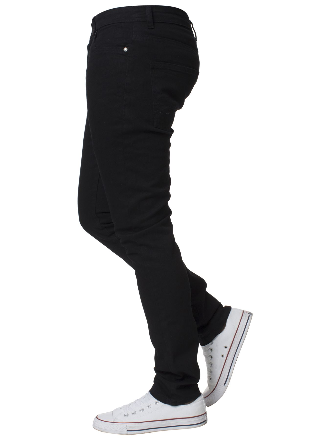 Mens-Skinny-Stretch-Jeans-Slim-Fit-Flex-Denim-Trousers-Pants-King-Sizes-by-Kruze thumbnail 7