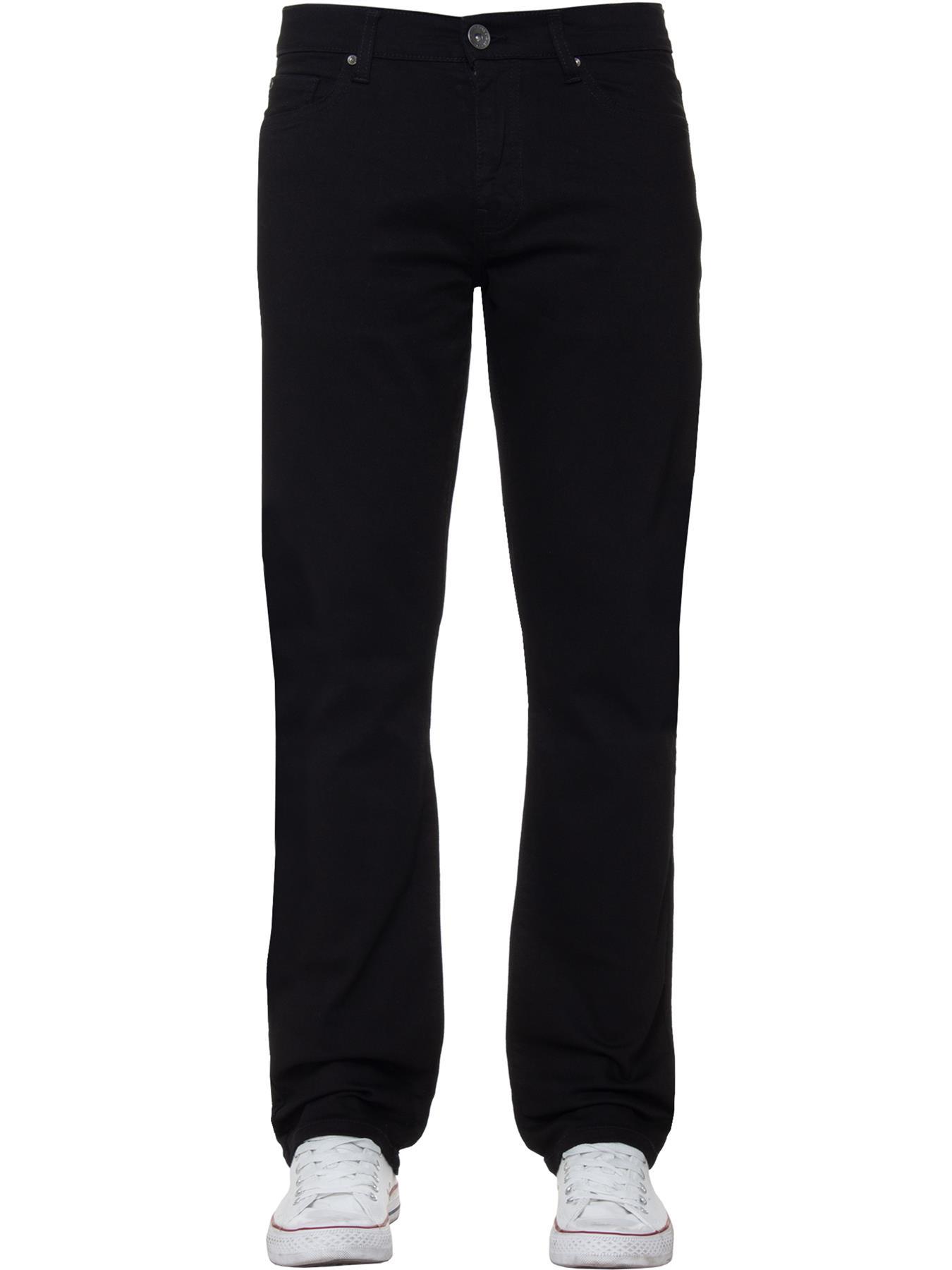 Para-Hombre-Pierna-Recta-Bootcut-Stretch-Denim-Regulares-Pantalon-de-trabajo-Kruze-Todas-Cinturas miniatura 24