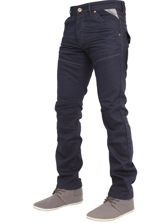 Enzo-Mens-Big-Tall-Jeans-Leg-King-Size-Denim-Pants-Chino-Trousers-Pants-44-034-60-034 thumbnail 57