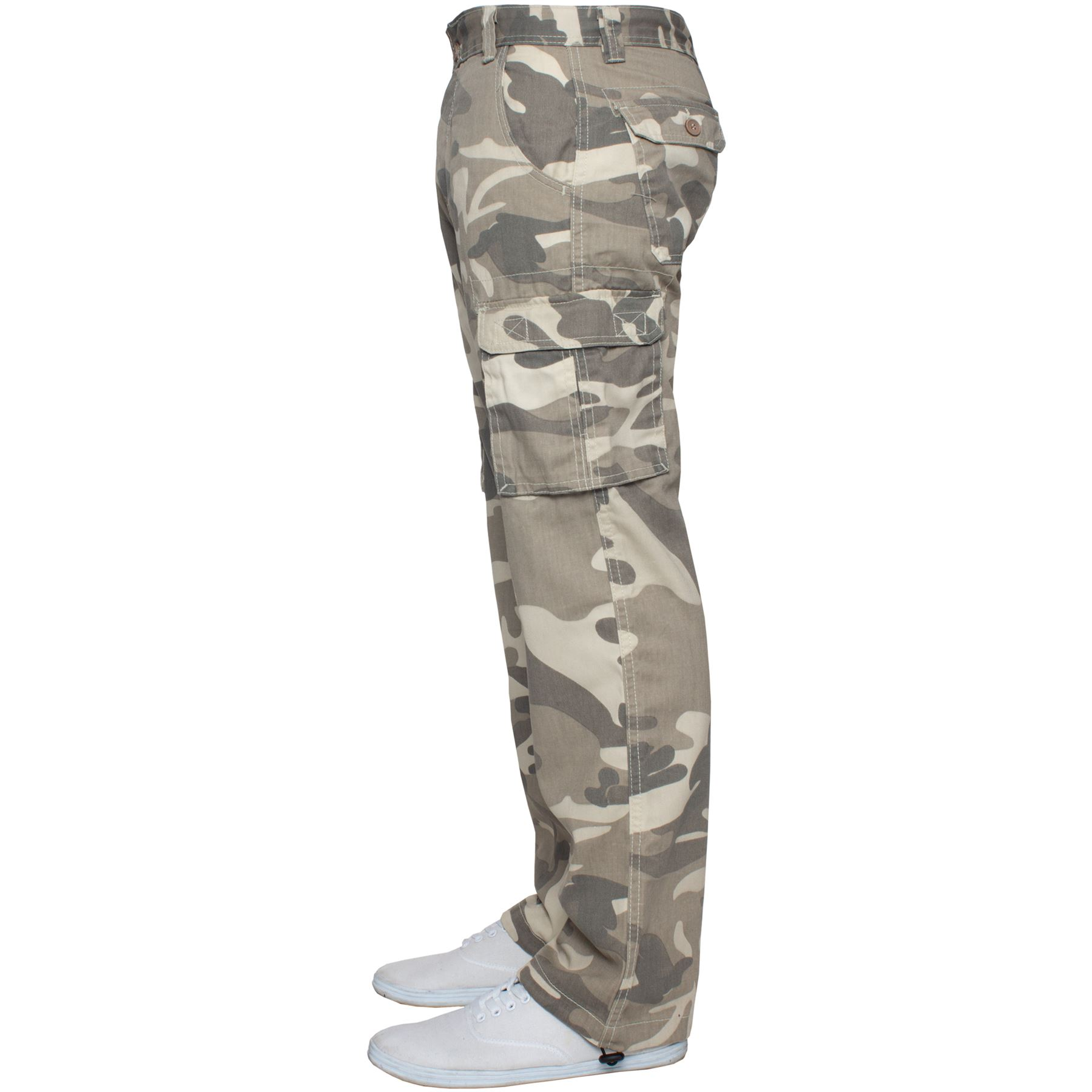 Kruze-Mens-Military-Combat-Trousers-Camouflage-Cargo-Camo-Army-Casual-Work-Pants miniatura 5