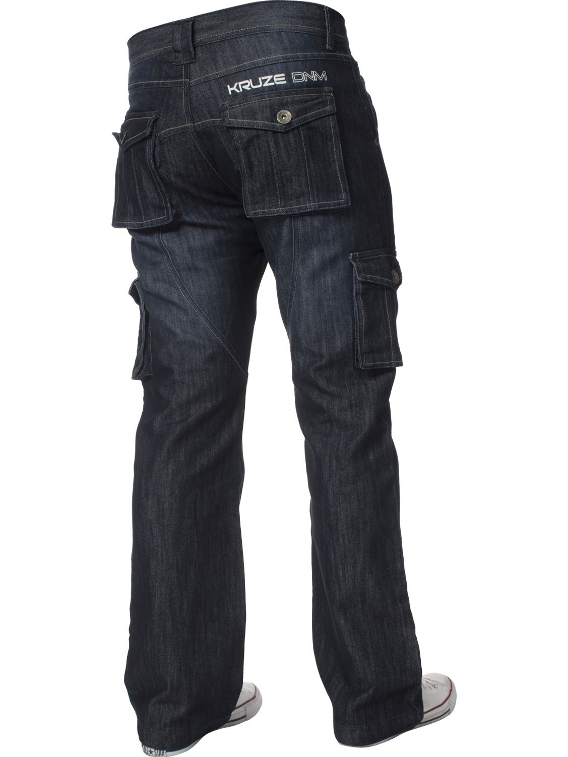 KRUZE-Mens-Combat-Jeans-Casual-Cargo-Work-Pants-Denim-Trousers-All-Waist-Sizes thumbnail 23