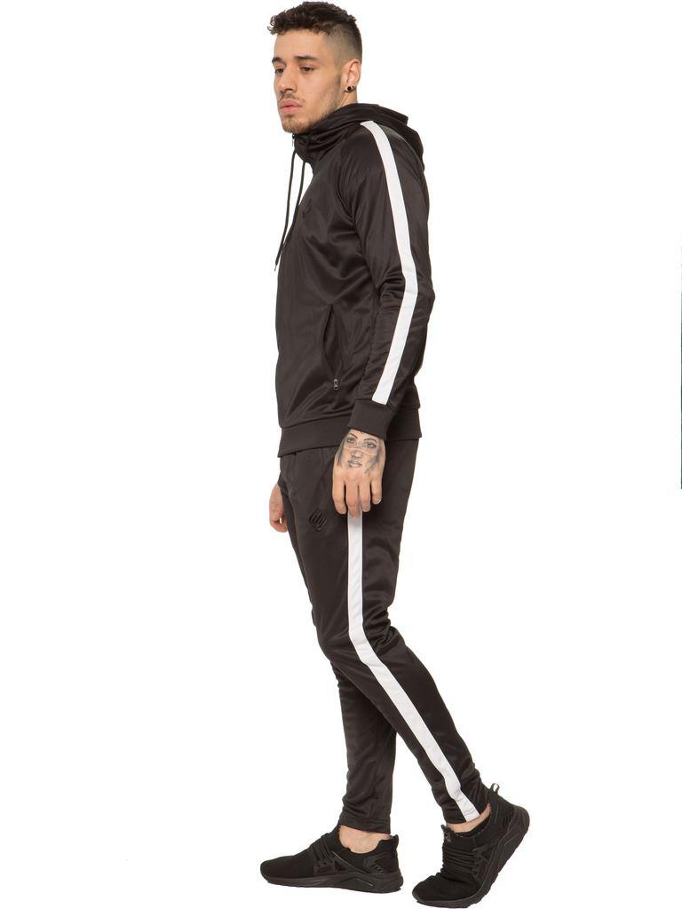 New-Enzo-Mens-Full-Tracksuit-Set-Slim-Fit-Zip-Up-Sweat-Hoodie-Jogging-Bottoms thumbnail 6