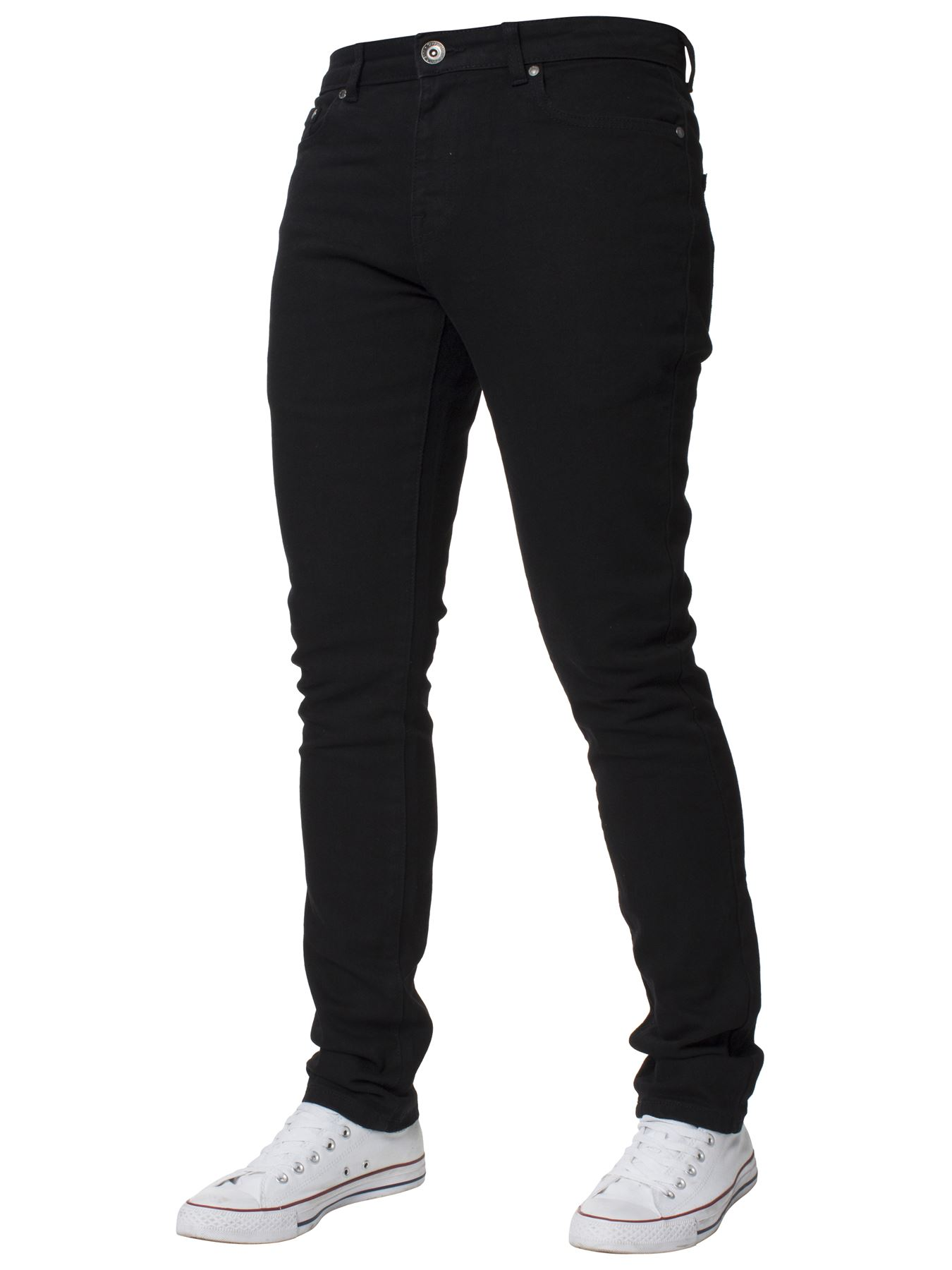 Mens-Skinny-Stretch-Jeans-Slim-Fit-Flex-Denim-Trousers-Pants-King-Sizes-by-Kruze thumbnail 3