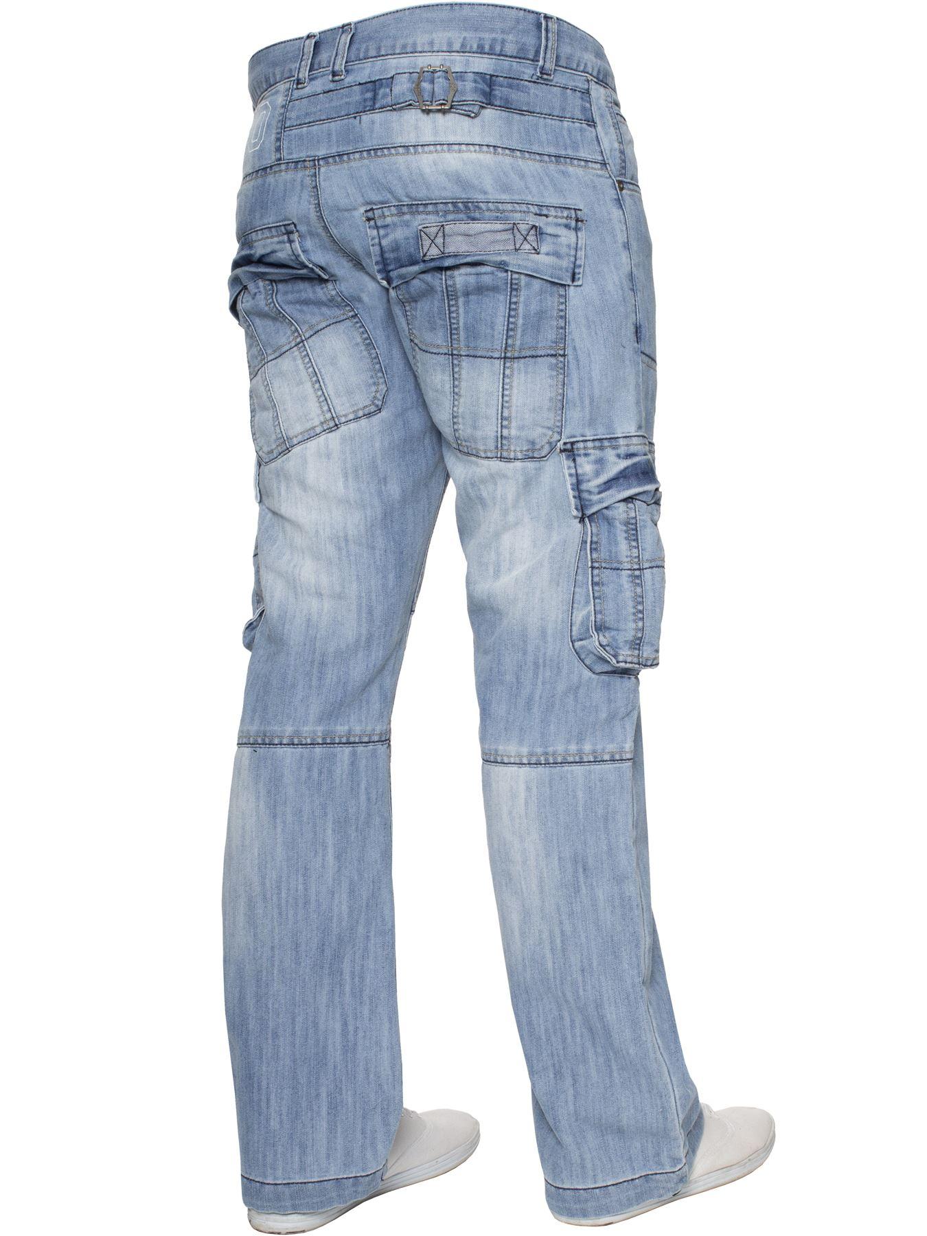 Jeans-Para-Hombre-de-carga-de-combate-pesado-Pantalones-de-trabajo-pantalones-de-mezclilla-Big-King miniatura 47