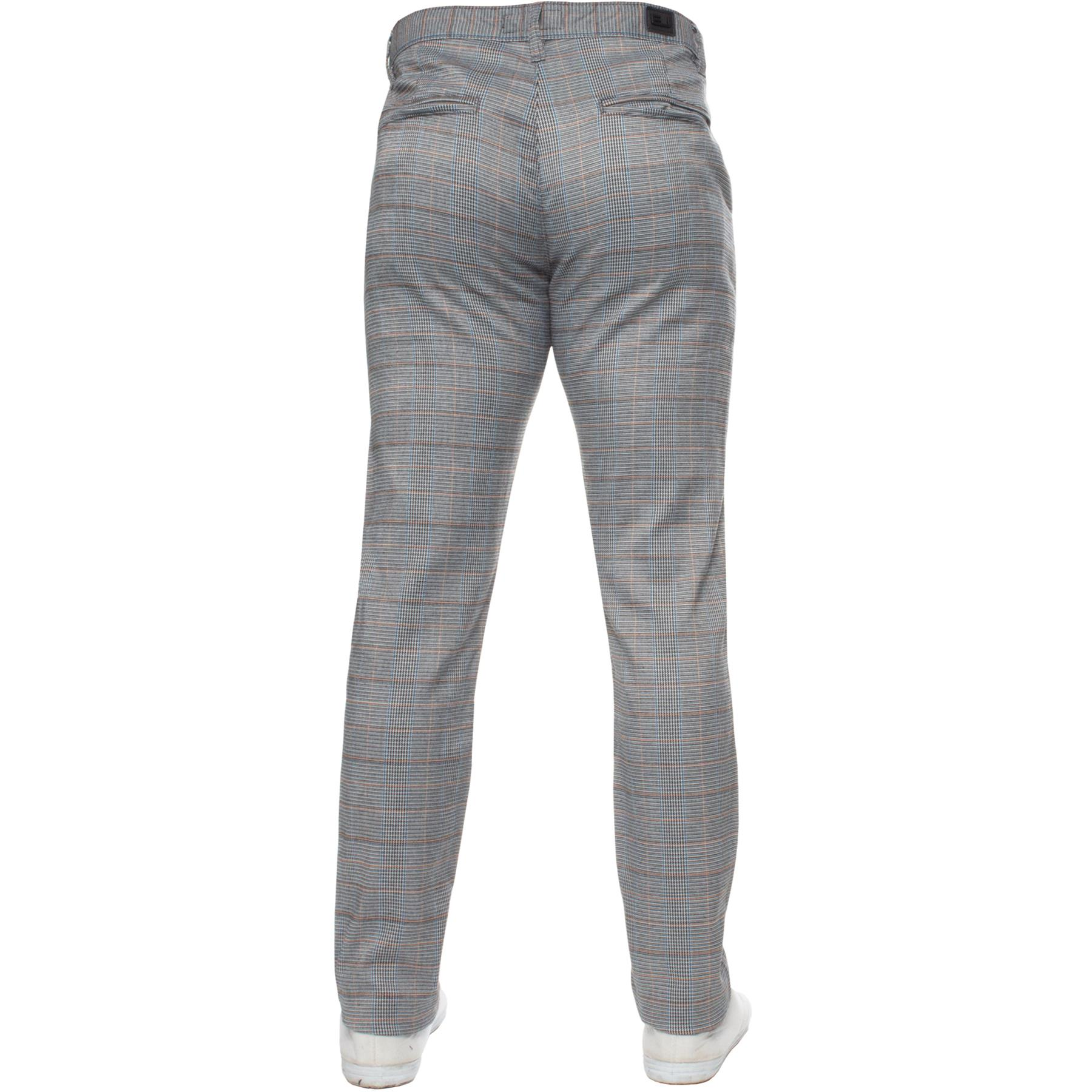 Para-Hombre-a-Cuadros-Pantalones-Slim-Fit-Smart-Casual-Elastico-Suave-Oficina-de-Trabajo-Pantalones miniatura 16