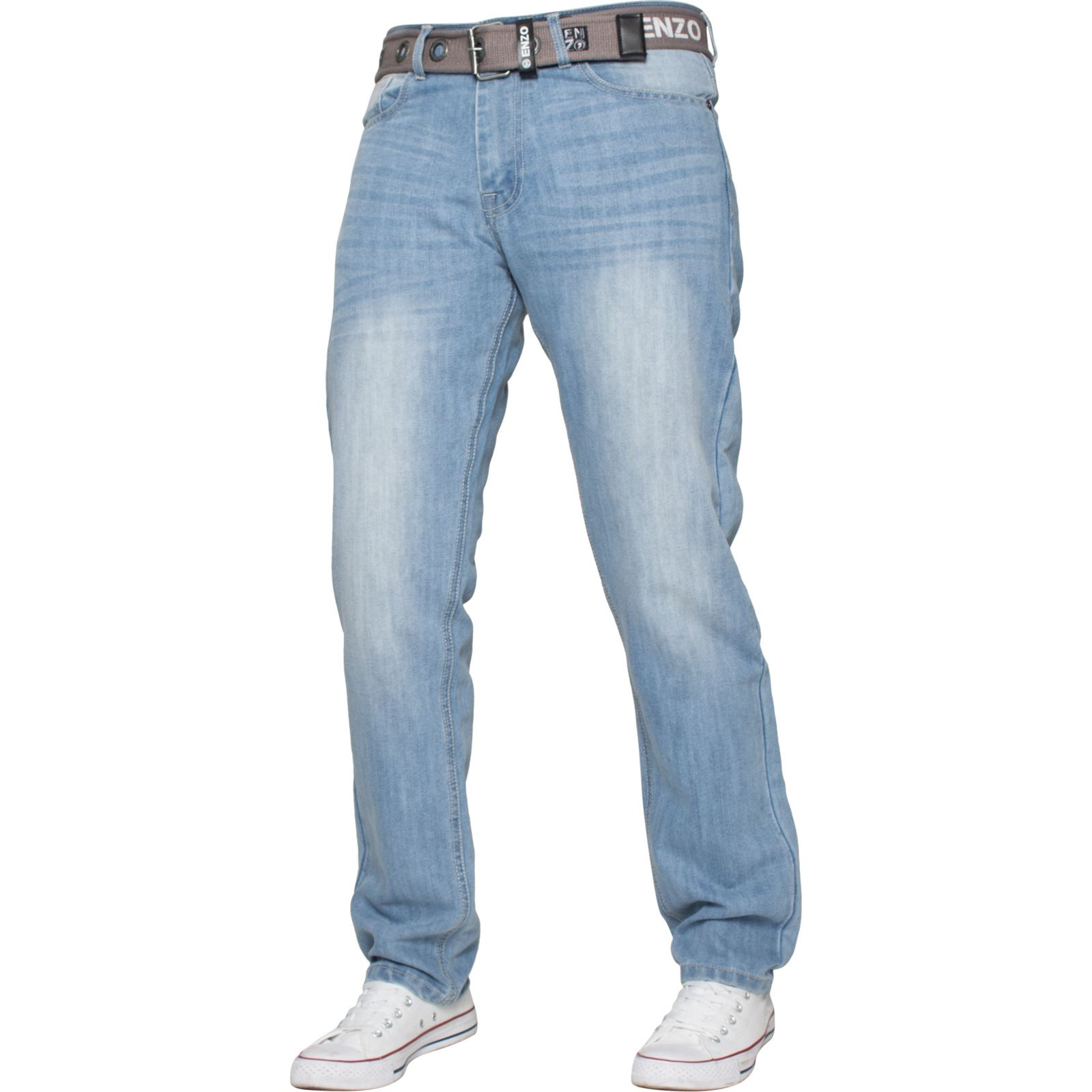 Enzo-Mens-Designer-Jeans-Regular-Fit-Denim-Pants-Big-Tall-All-Waist-Sizes thumbnail 15
