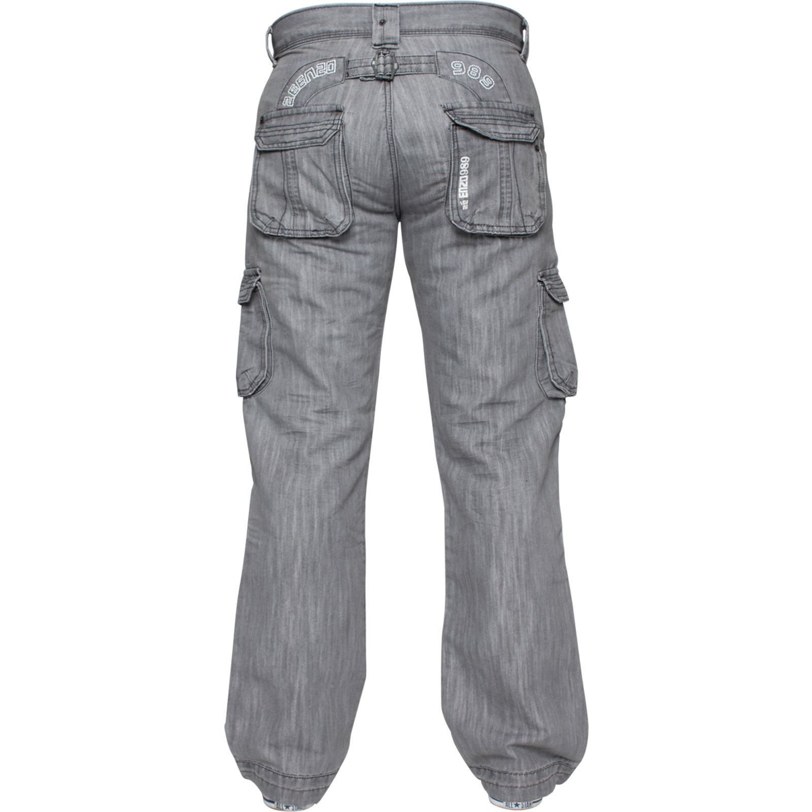 Enzo-Mens-Cargo-Combat-Trousers-Jeans-Work-Casual-Denim-Pants-Big-Tall-All-Waist thumbnail 27