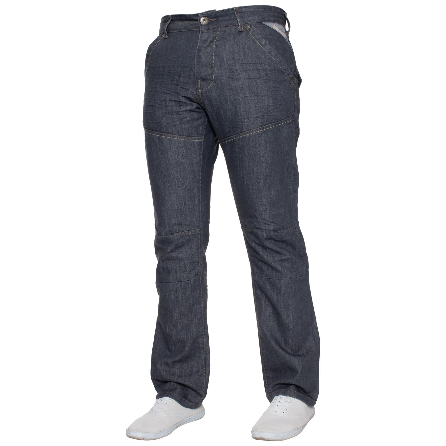 Enzo-Mens-Big-Tall-Jeans-Leg-King-Size-Denim-Pants-Chino-Trousers-Pants-44-034-60-034 thumbnail 76